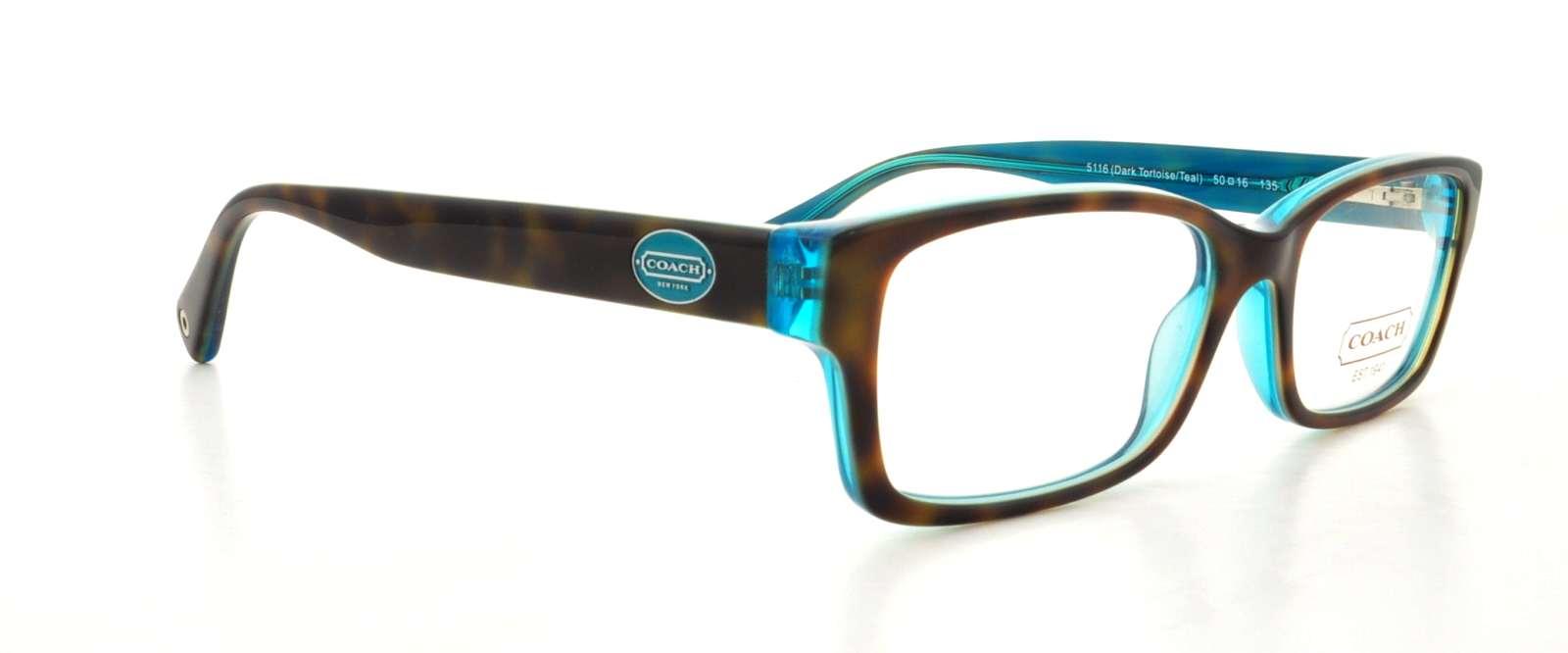 73d7befa7d7 COACH Eyeglasses HC6040 BROOKLYN 5116 Tortoise Teal 52MM .