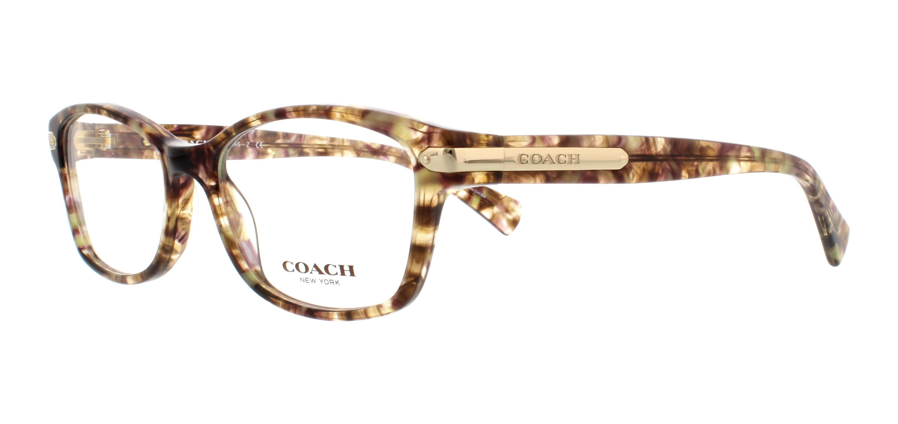 COACH Eyeglasses HC6065 5287 Confetti Light Brown 51MM
