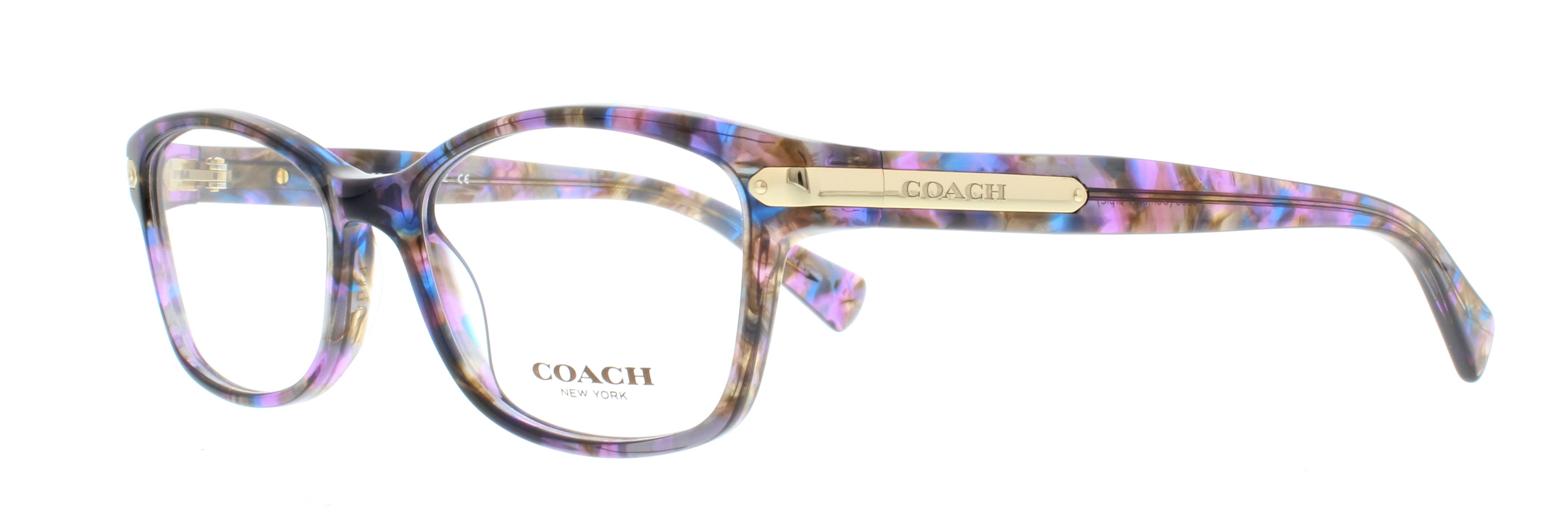 COACH Eyeglasses HC6065 5288 Confetti Purple 51MM 725125932219 | eBay