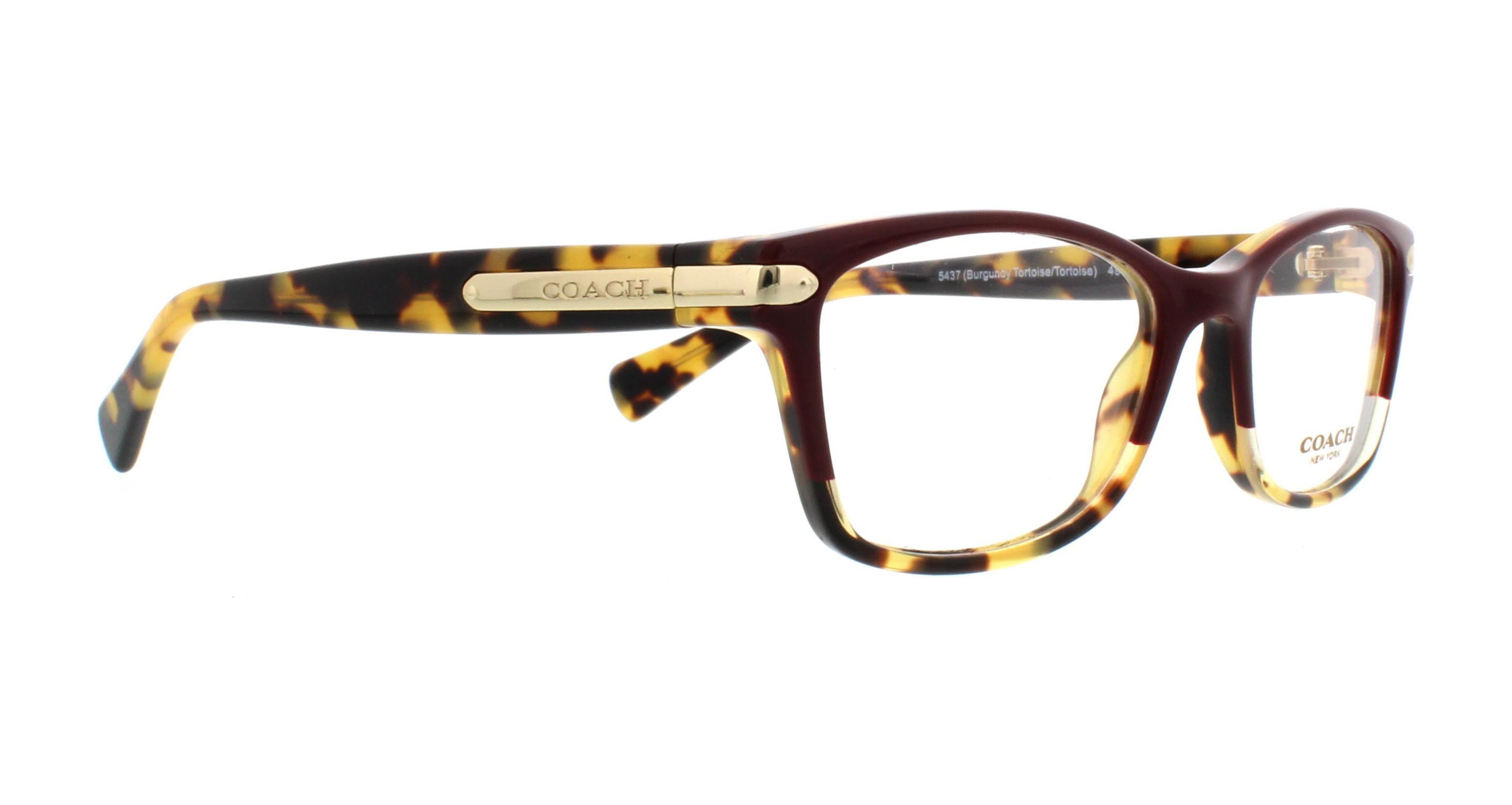 dba2c6a718 COACH Eyeglasses HC6065 5437 Burgundy Tortoise Tortoise 49MM ...