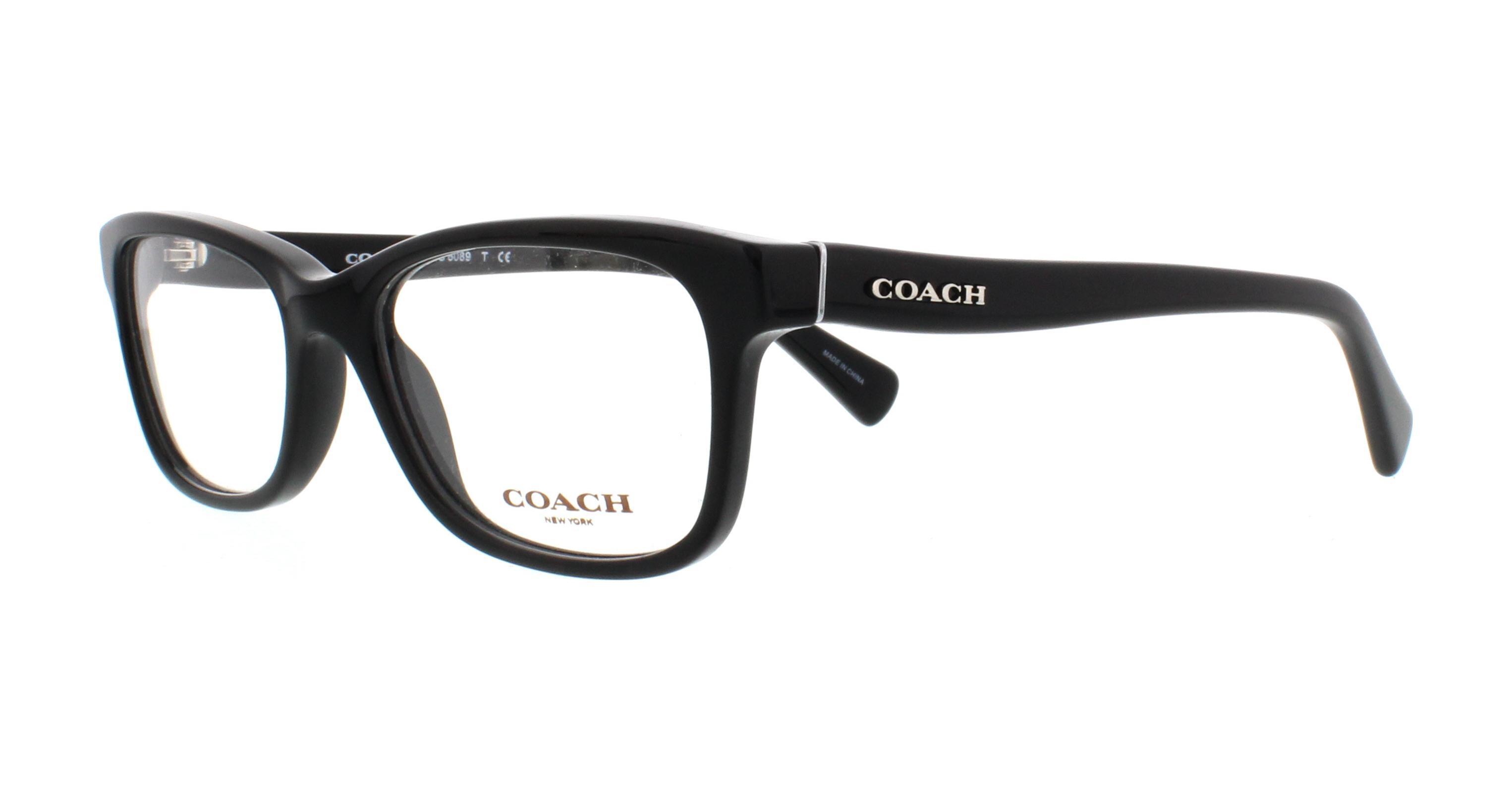 223888e495a COACH Eyeglasses HC6089 5002 Black 49MM 725125964296