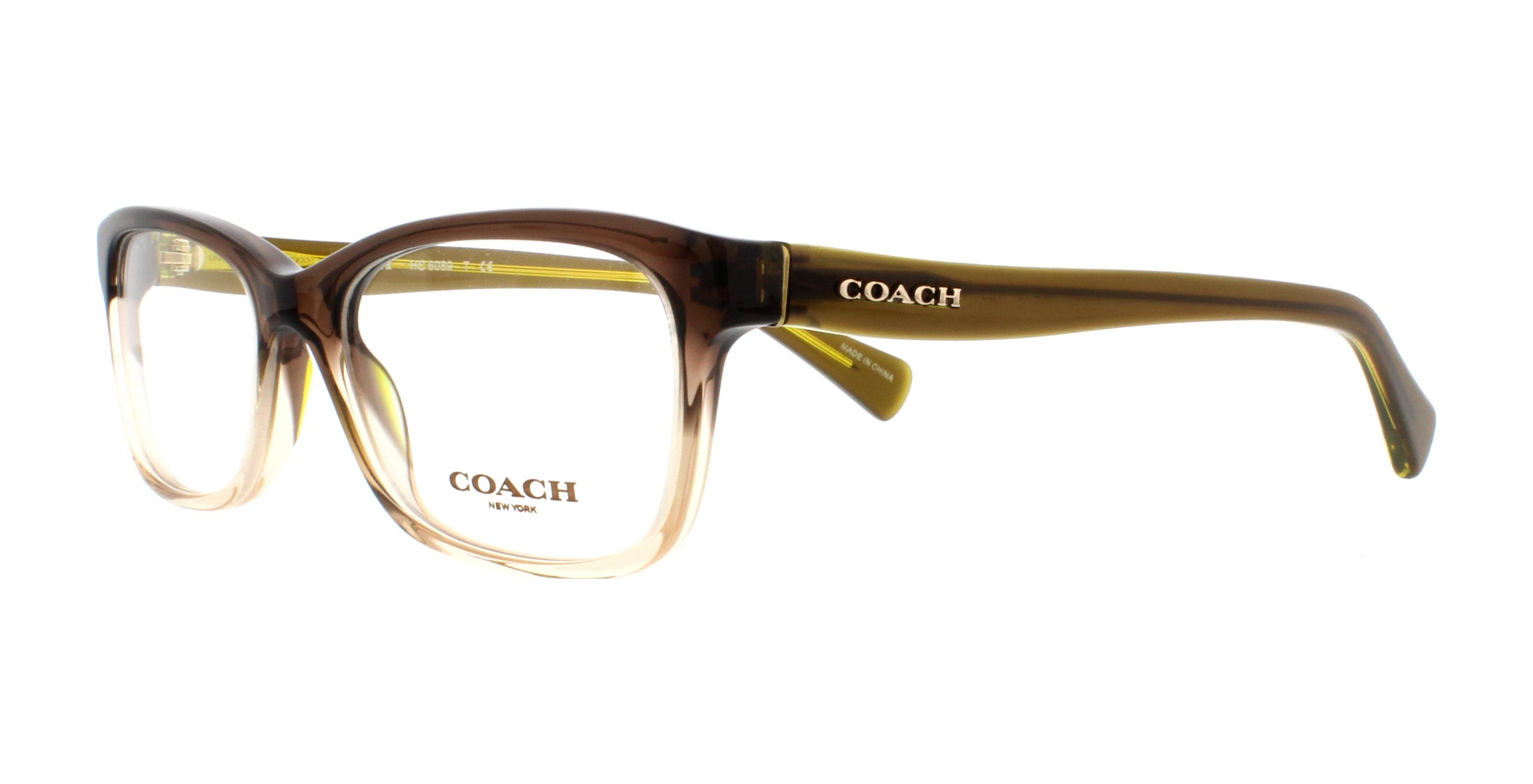 COACH Eyeglasses HC6089 5400 Olive Brown Gradient/Olive 49MM | eBay