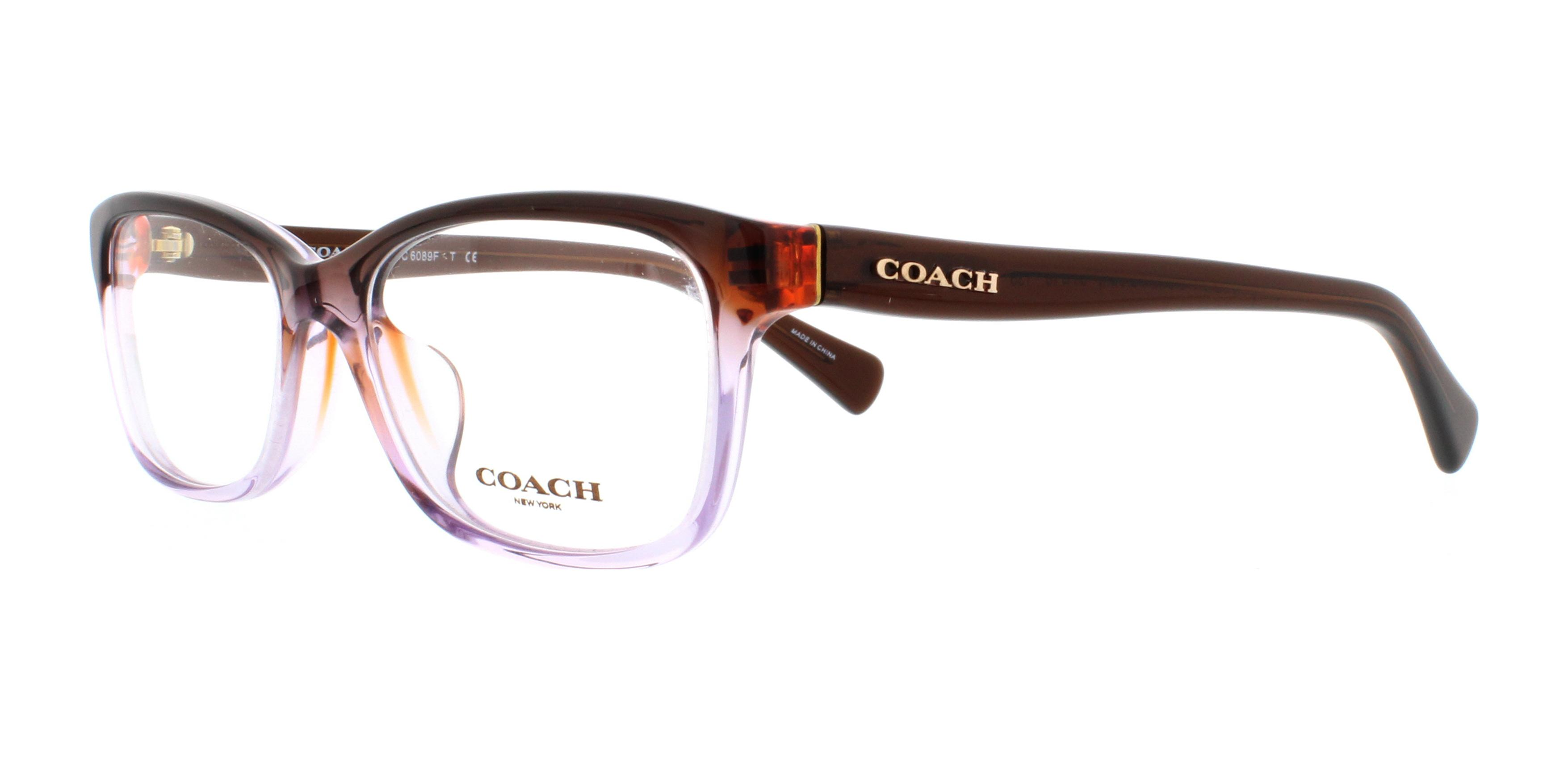 COACH Eyeglasses HC6089F 5401 Purple Brown Gradient/Brown 51MM | eBay
