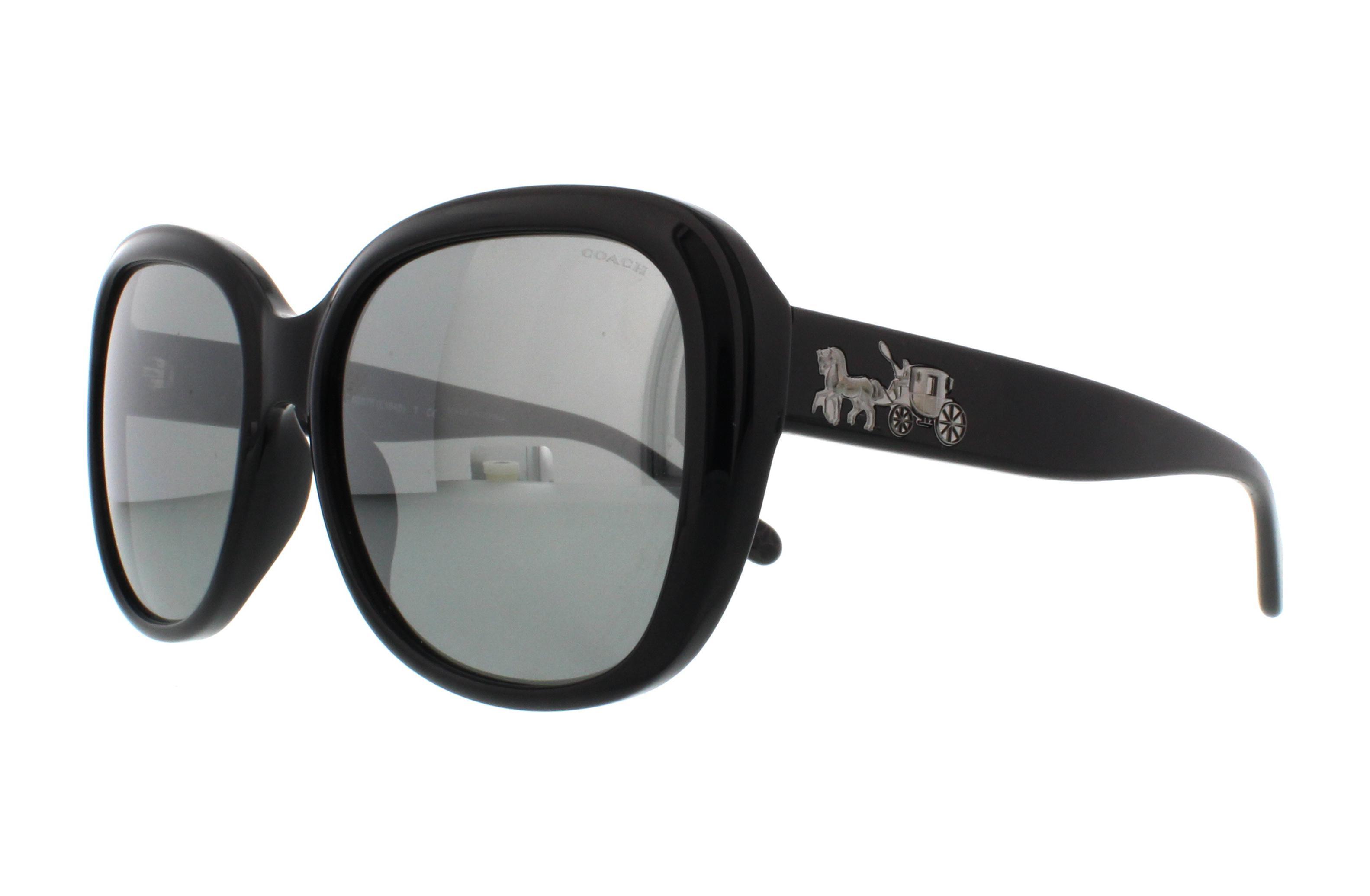 a96c739d488 COACH Sunglasses HC8207F 542011 Black Black Gunmetal Sig C 57MM ...