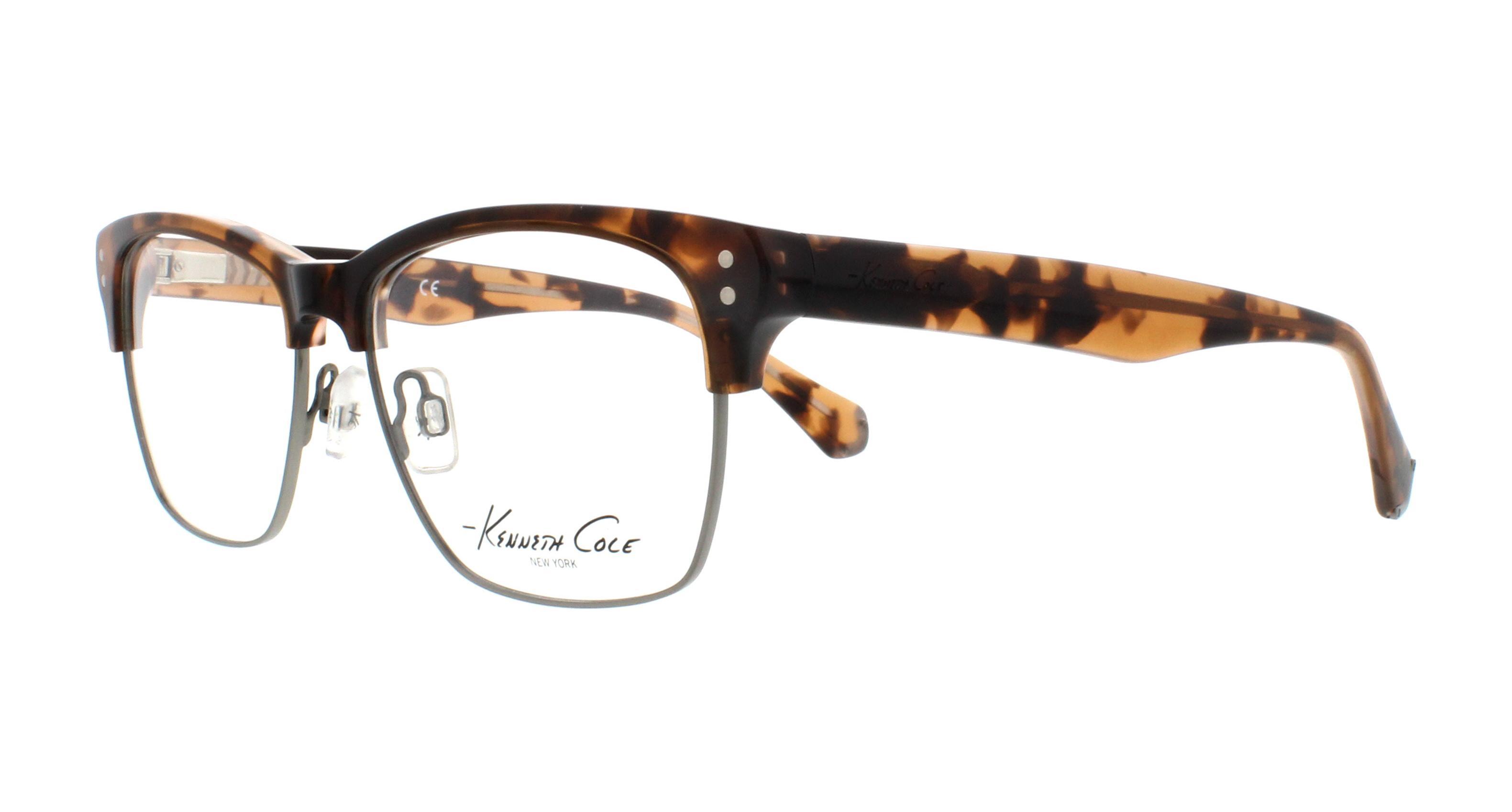cf45275883 Details about KENNETH COLE REACTION Eyeglasses KC0221 050 Dark Brown 52MM