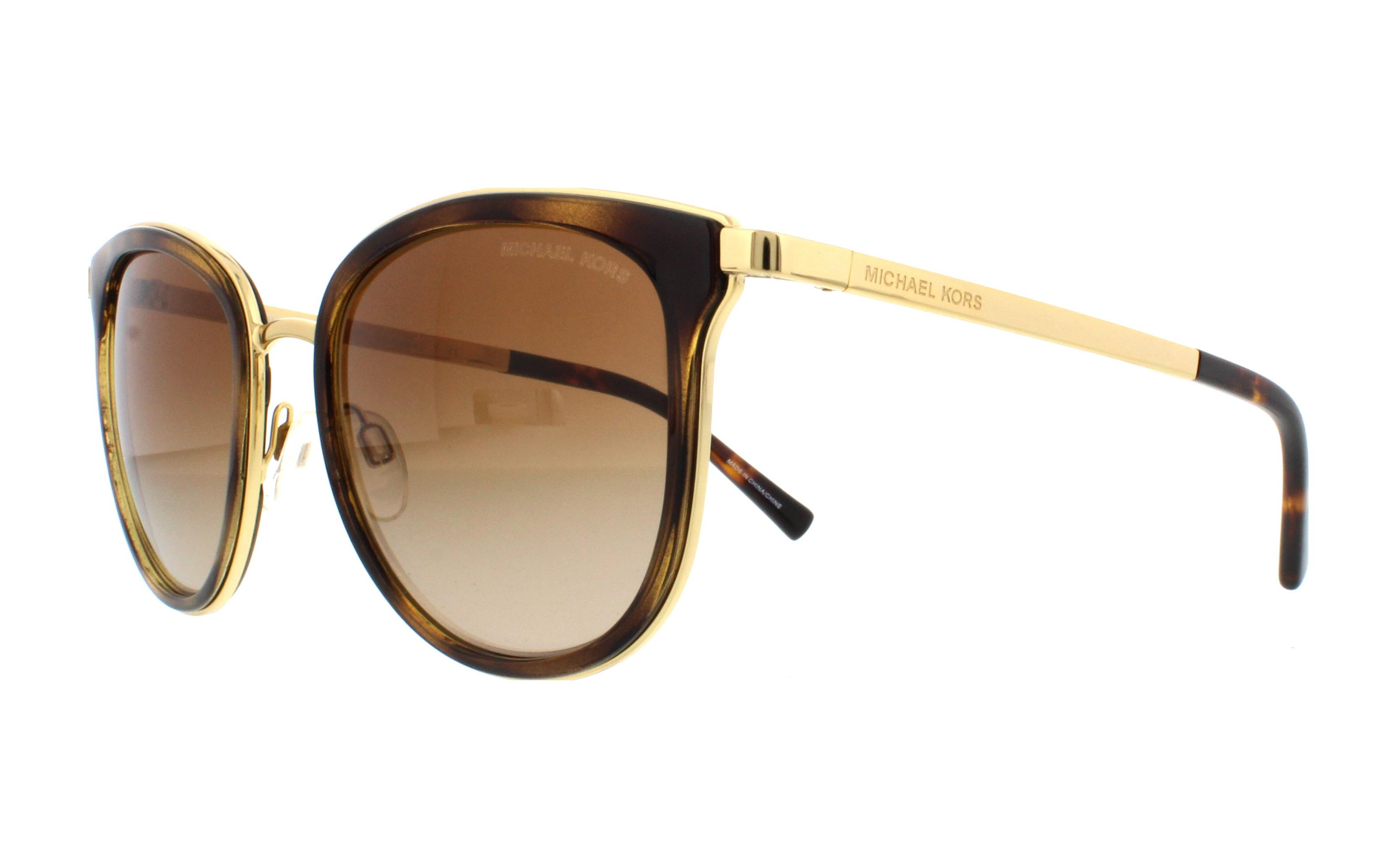 10114da998bca MICHAEL KORS Sunglasses MK1010 ADRIANNA I 110113 Dark Tortoise Gold 54MM