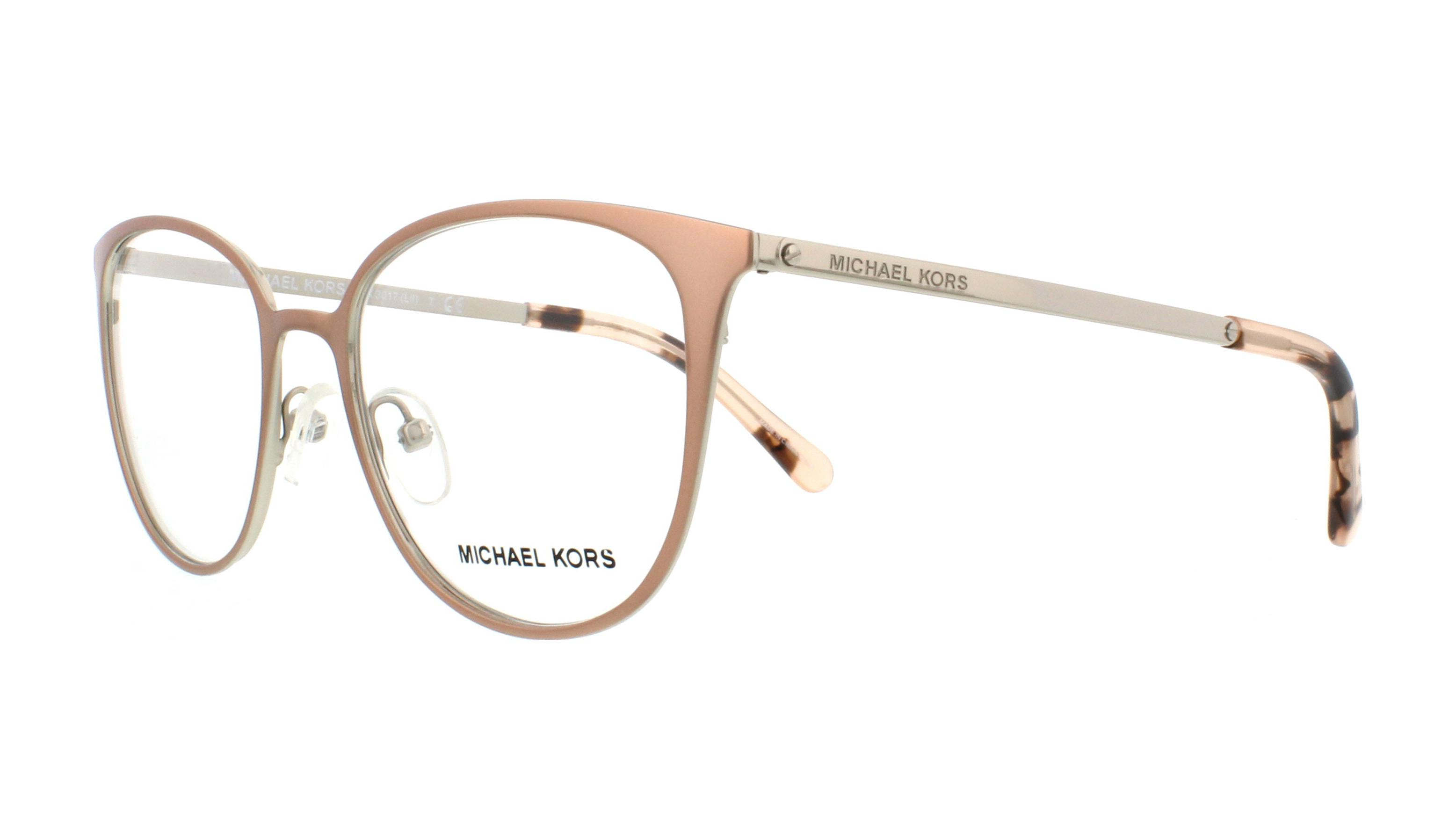 0876301438 MICHAEL KORS Eyeglasses MK3017 1186 Satin Rose Gold Silver 51MM ...