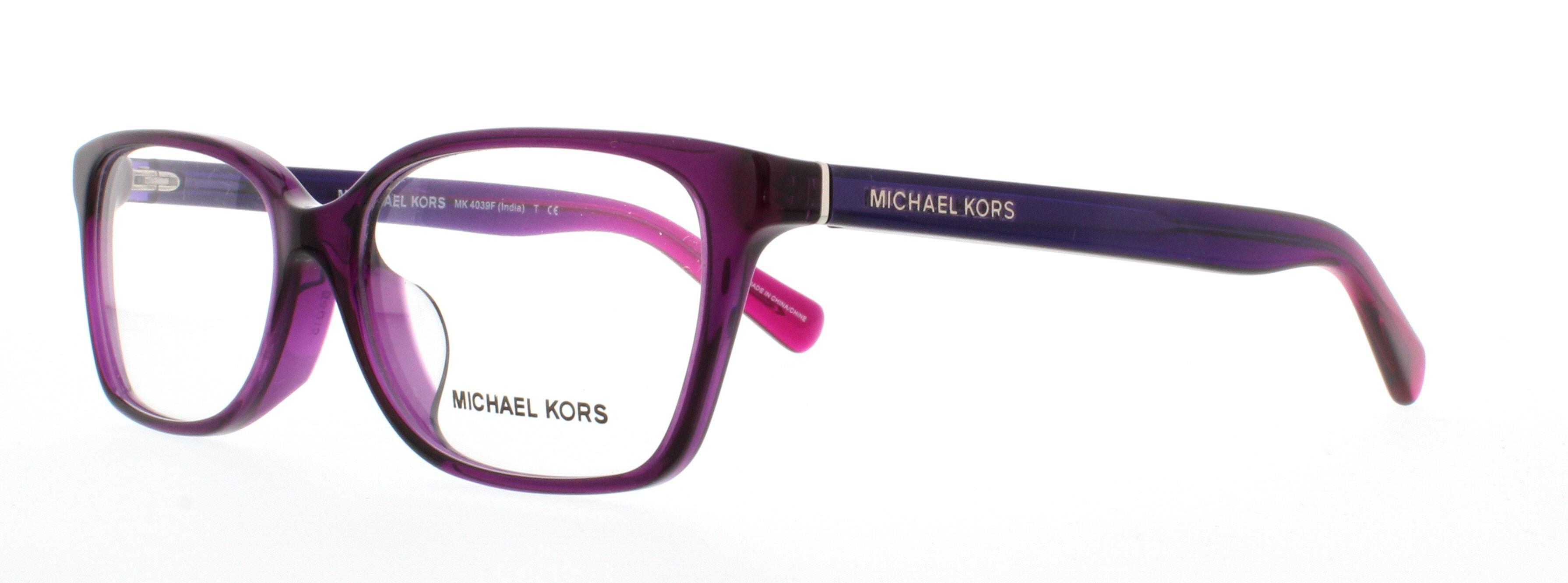 MICHAEL KORS Eyeglasses MK4039F INDIA (F) 3222 Transparent Purple ...