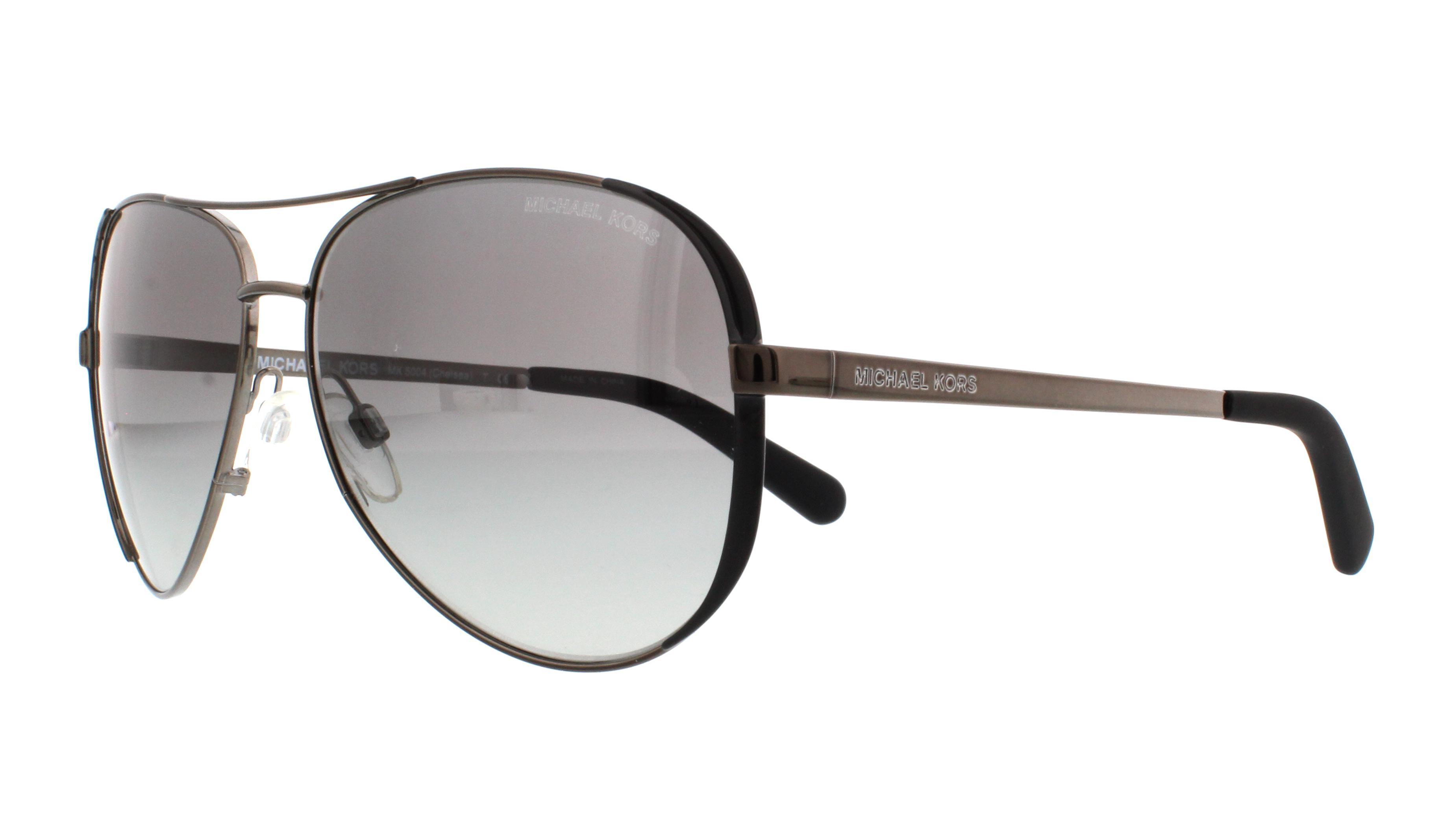Michael Kors Chelsea Sonnenbrille Gunmetal 101311 59mm TW8Ka