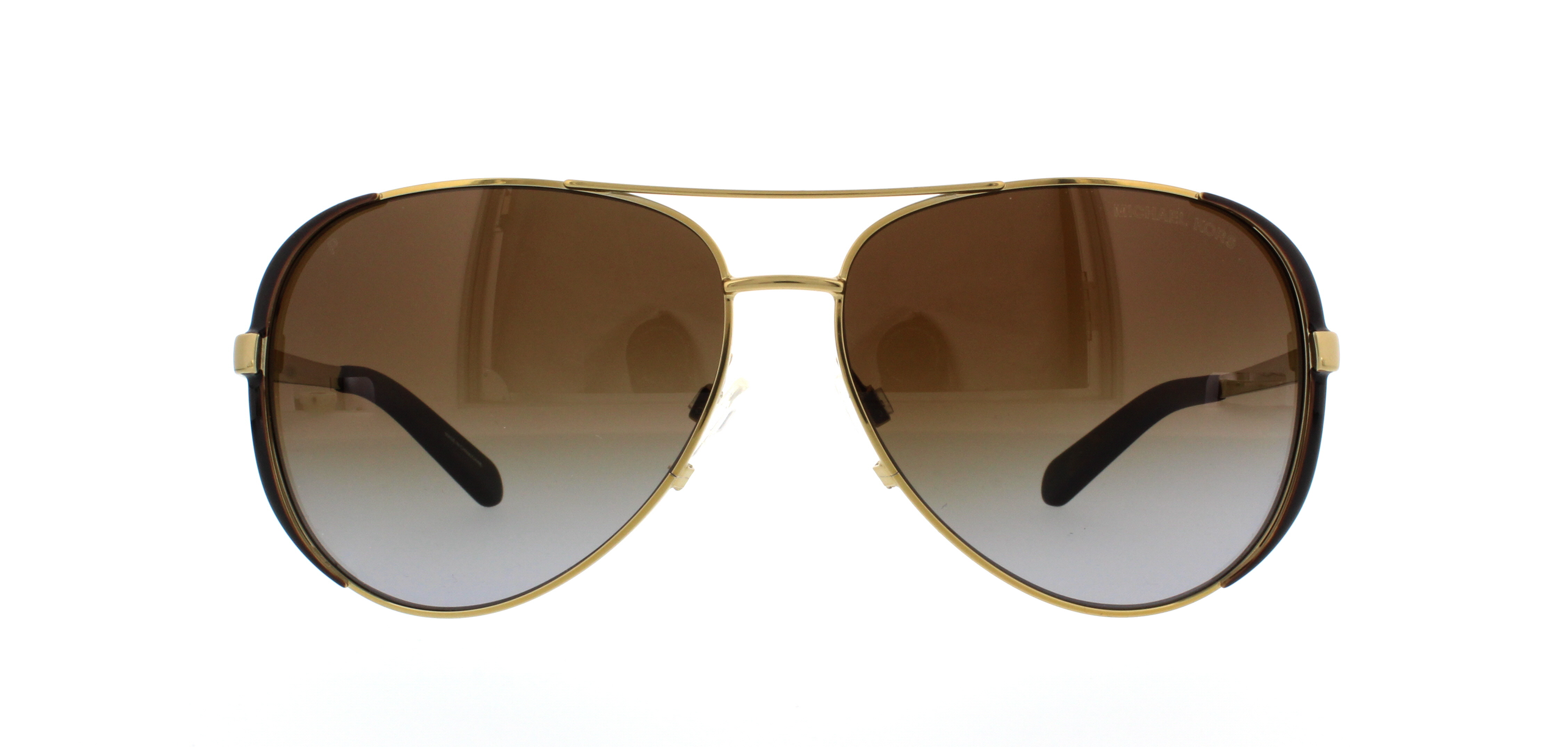 MICHAEL KORS Sunglasses MK5004 CHELSEA 1014T5 Gold Chocolate Brown 59MM f81f7e919a