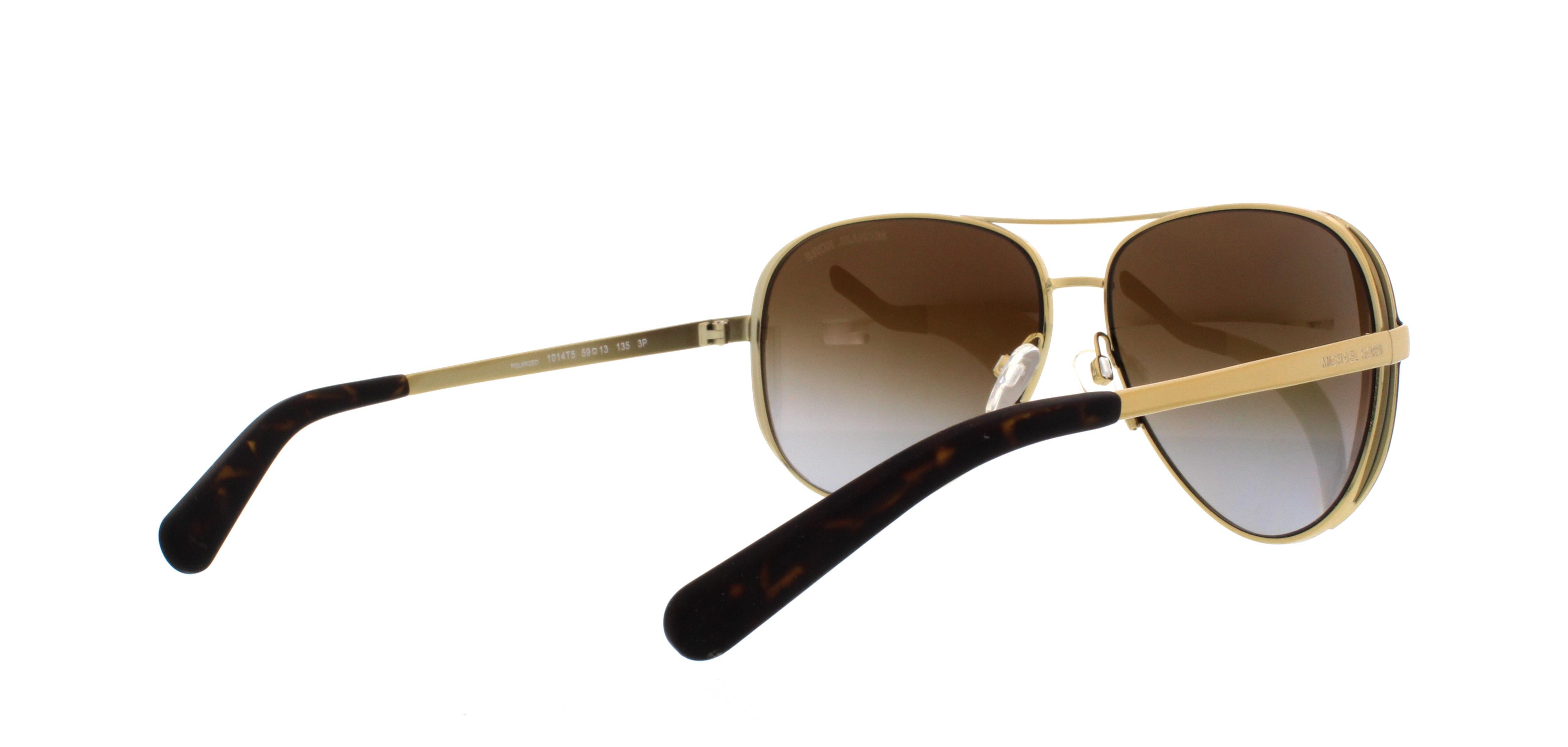 MICHAEL KORS Sunglasses MK5004 CHELSEA 1014T5 Gold Chocolate Brown ... 68a23d0c2b