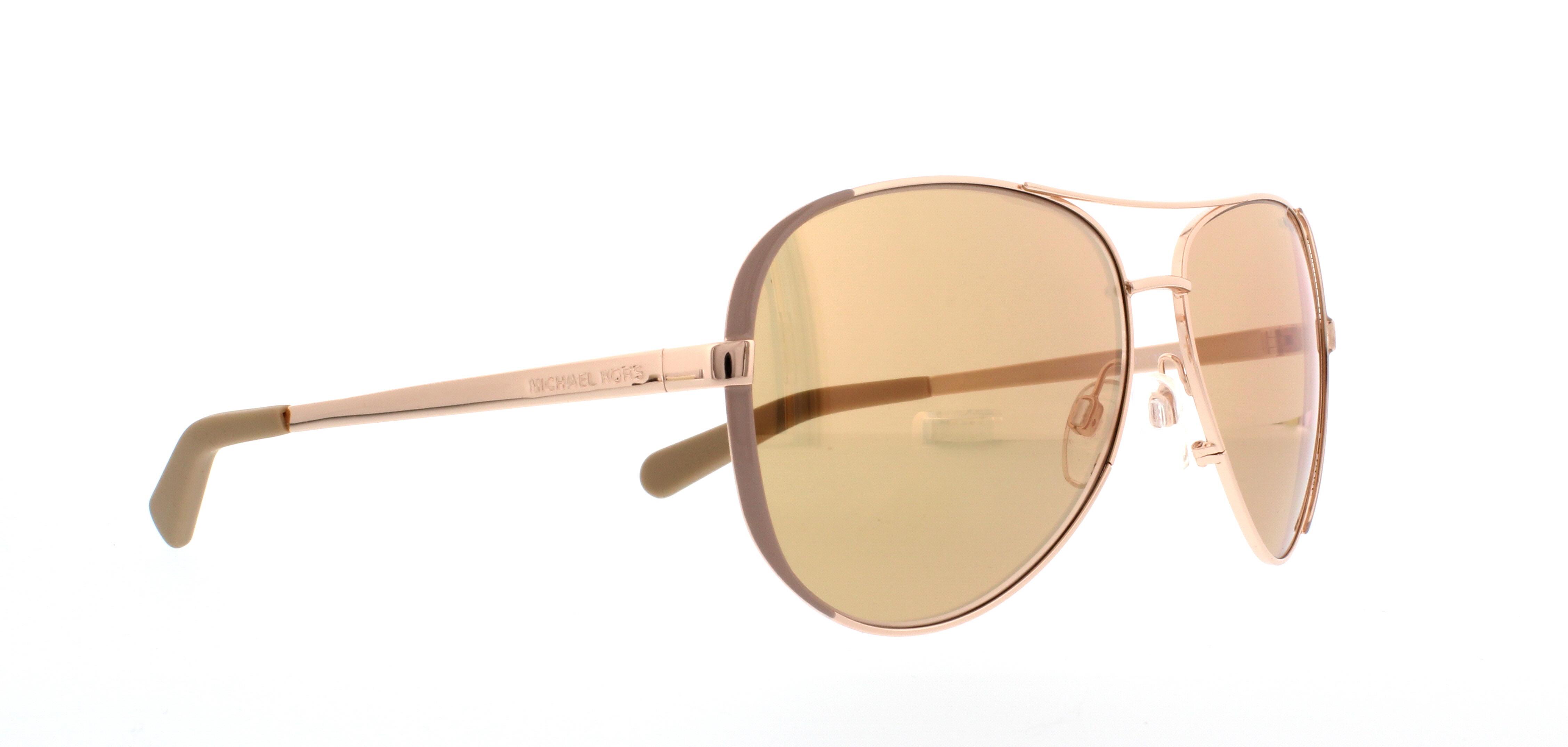 Michael Kors Chelsea Sonnenbrille Gold und Beige 1017R1 59mm y5ENhwM6E