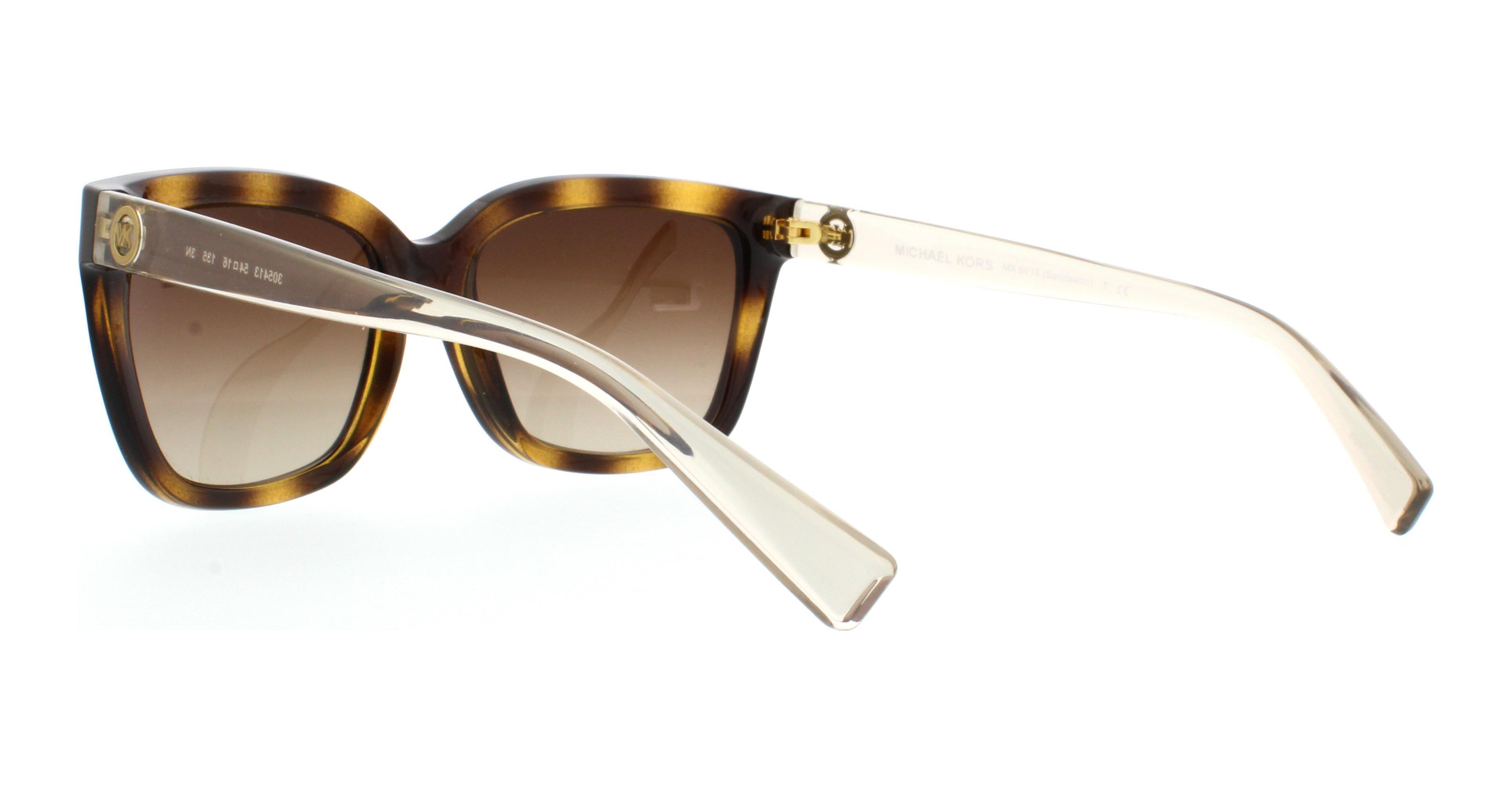 Michael Kors Sandestin Sonnenbrille Tortoise und Transparent 305413 54mm UHSJ1VETrG