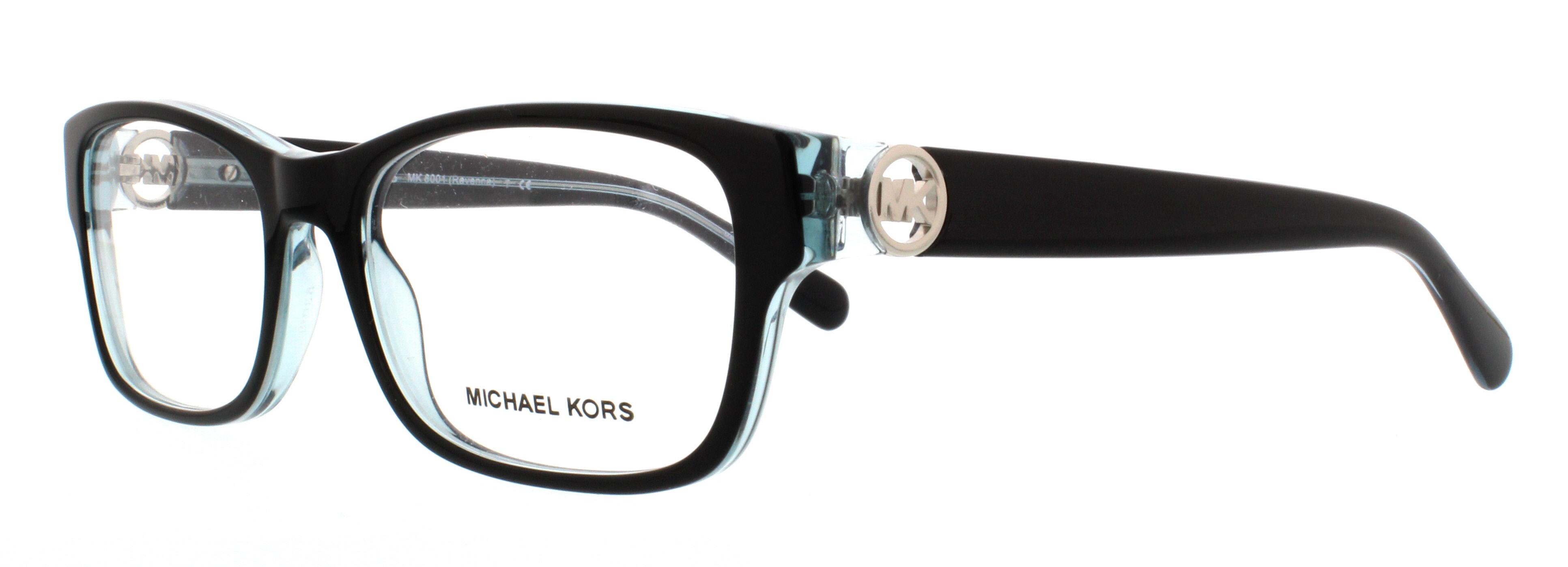 MICHAEL KORS Eyeglasses MK8001 RAVENNA 3001 Black Blue 53MM ...