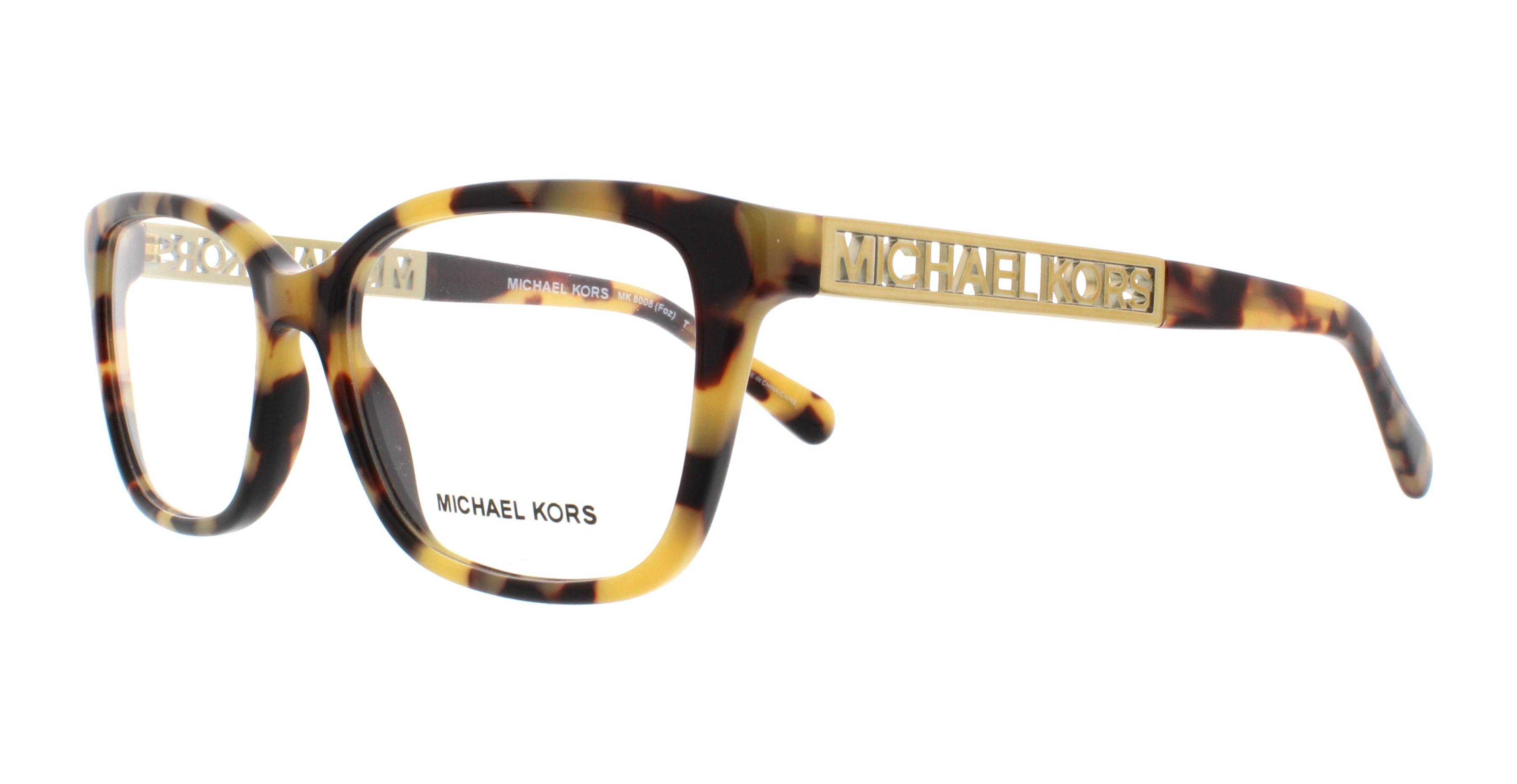 MICHAEL KORS Eyeglasses MK8008 FOZ 3013 Vintage Tortoise 52MM ...