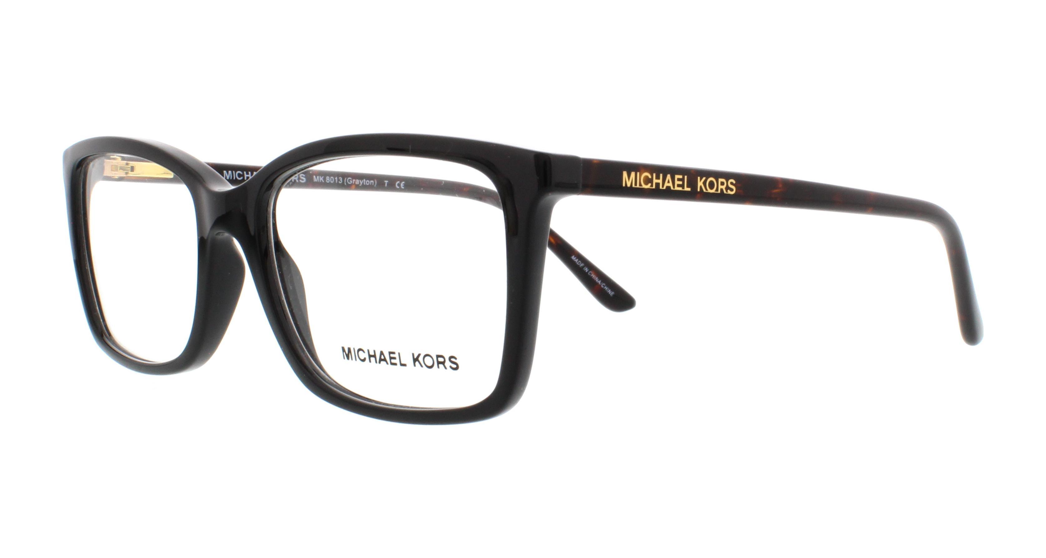 MICHAEL KORS Eyeglasses MK8013 GRAYTON 3056 Black Tortoise 51MM ...