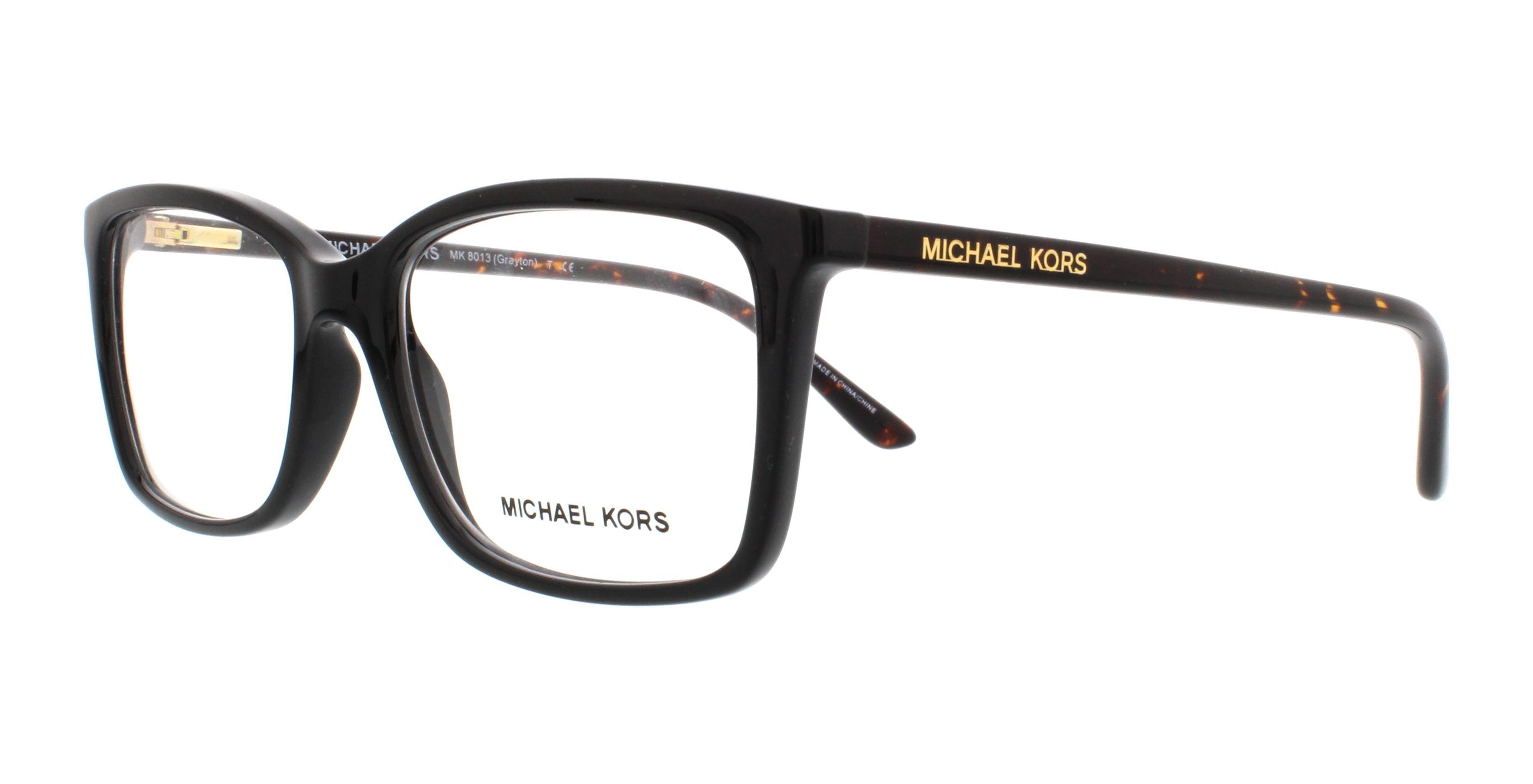 MICHAEL KORS Eyeglasses MK8013 GRAYTON 3056 Black Tortoise 53MM ...
