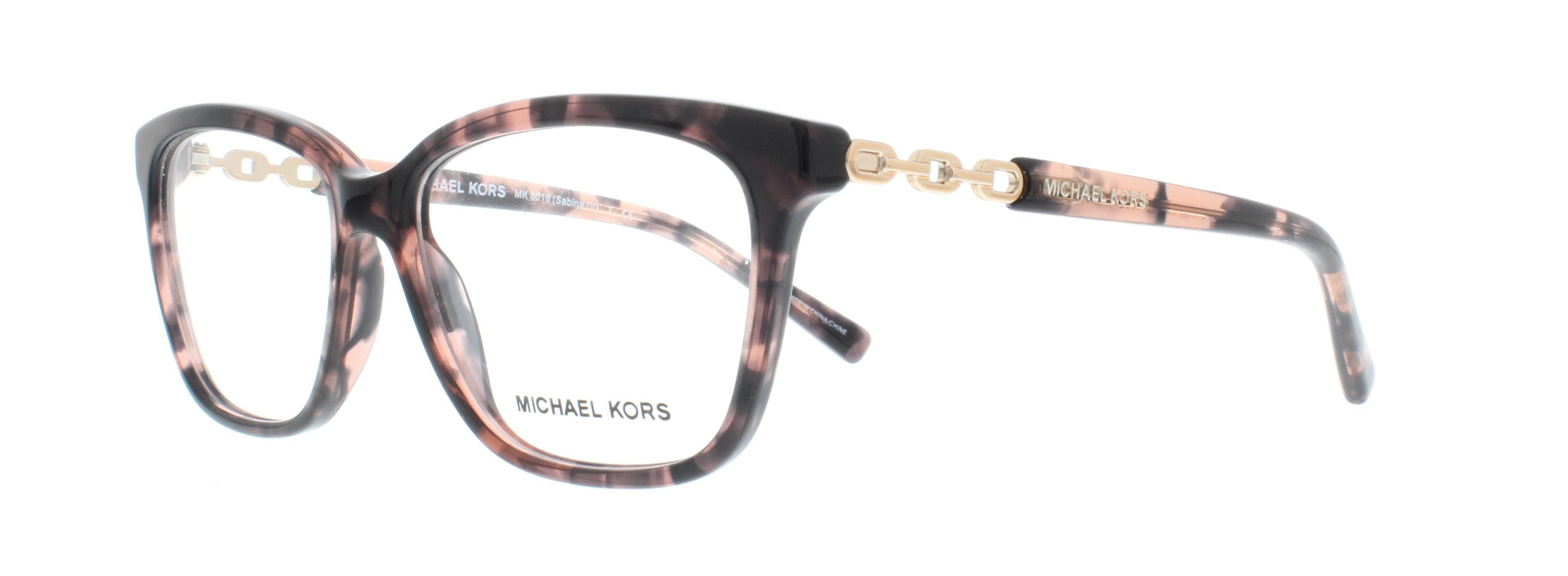 1892de1c0c MICHAEL KORS Eyeglasses MK8018 SABINA IV 3108 Pink Tortoise Rose Gold 52MM