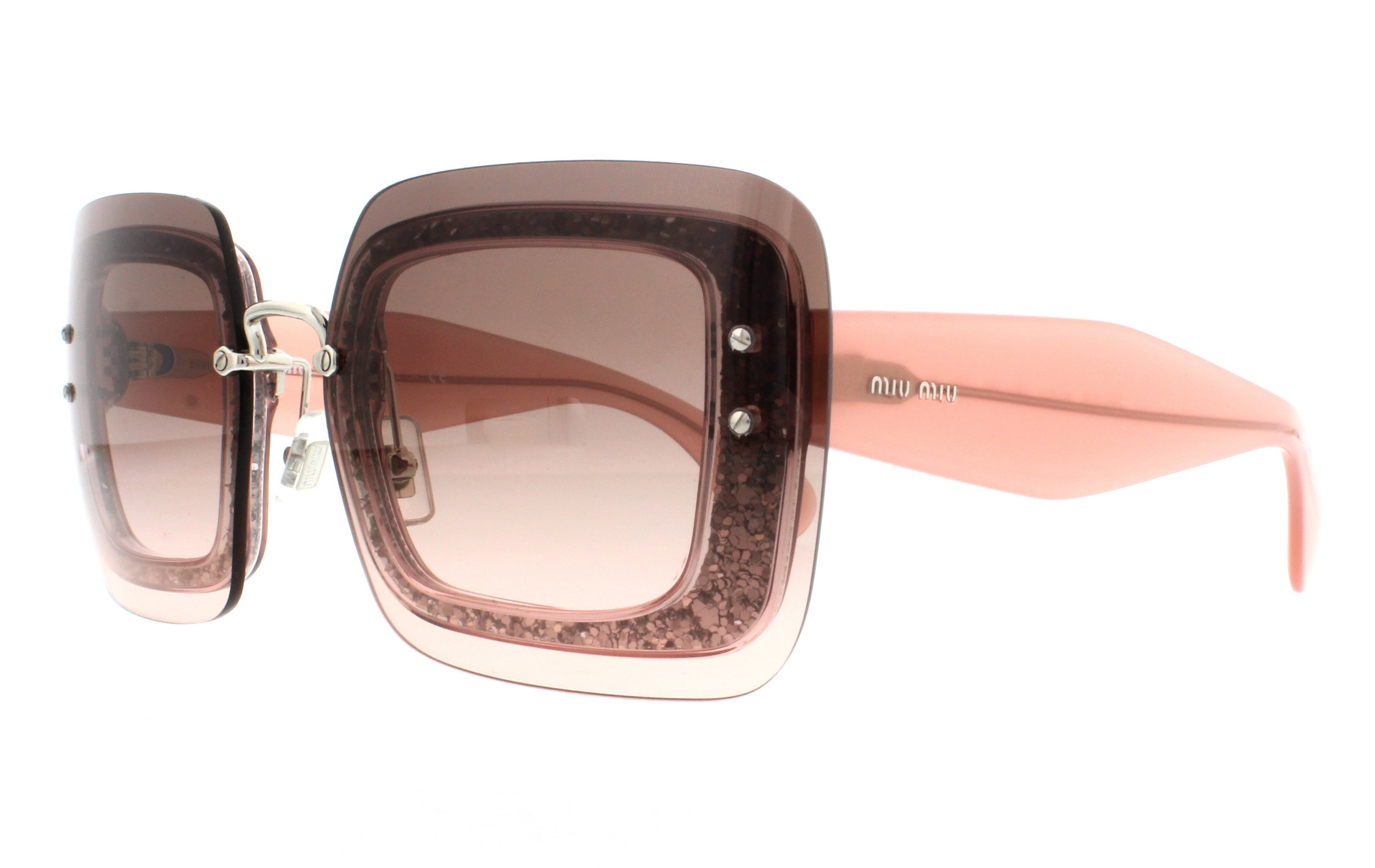 5f3e966bc8765 Miu Miu Sunglasses Pink Glitter