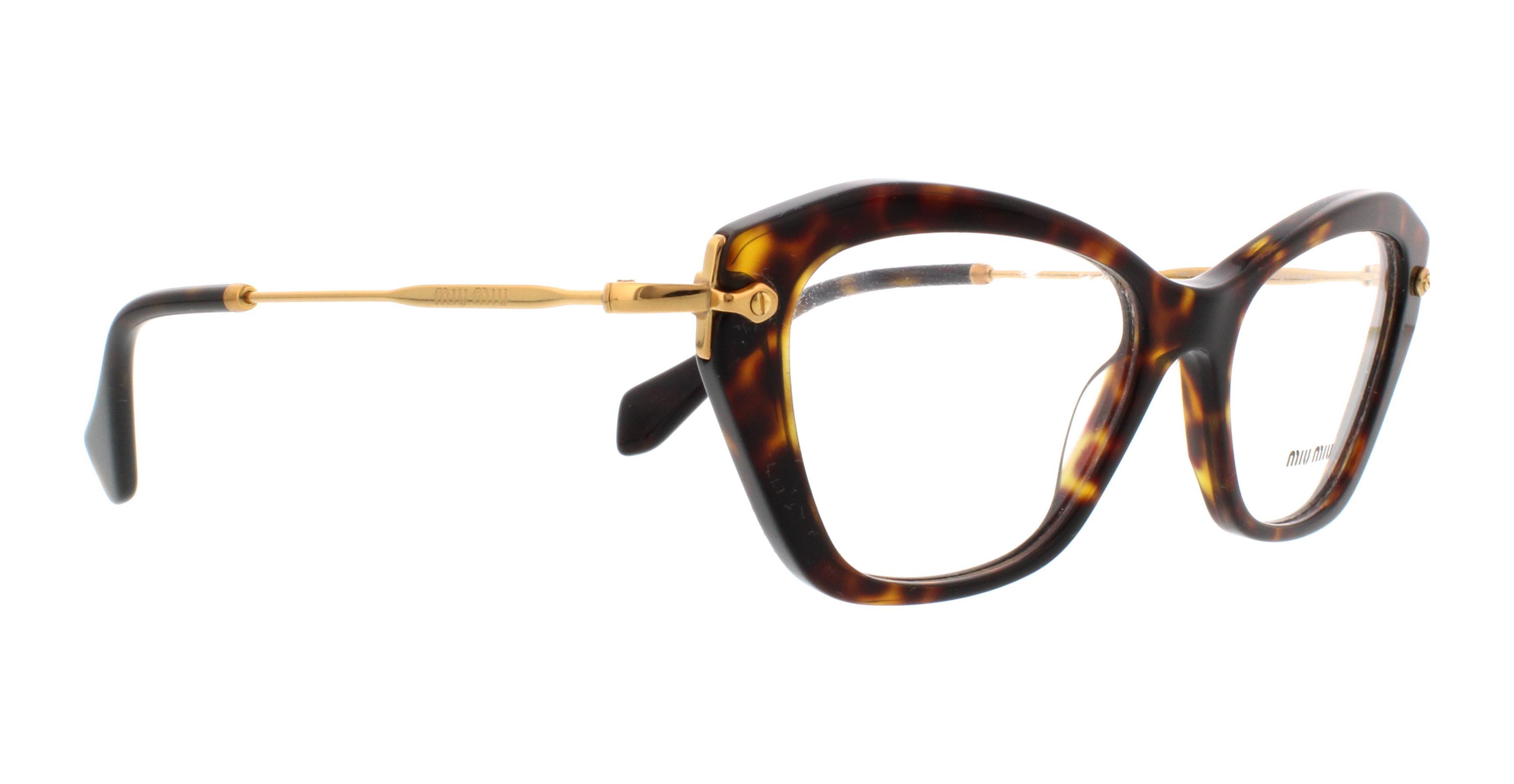 MIU MIU Eyeglasses MU04LV 2AU1O1 Havana 52MM | eBay