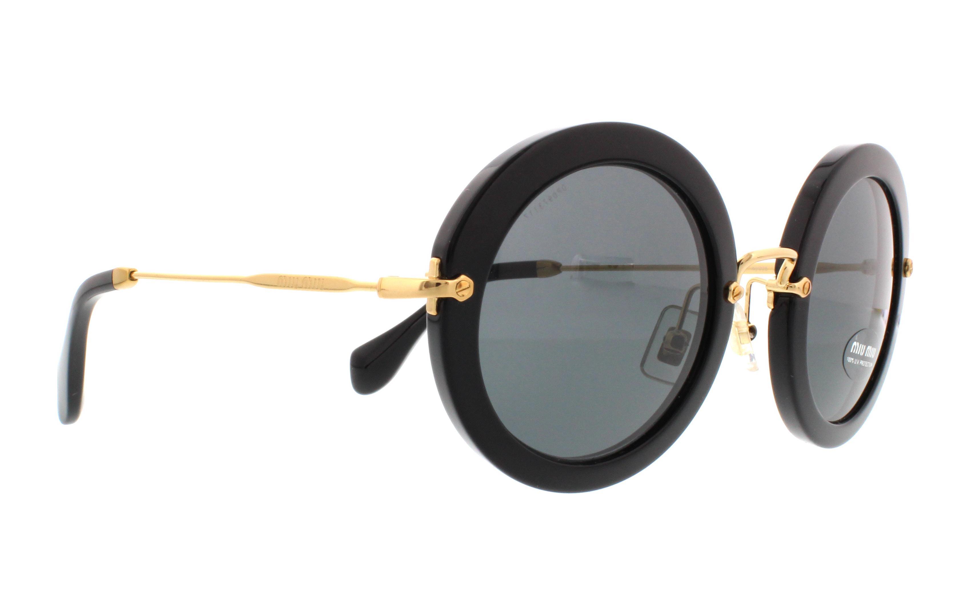 Miu Miu MU13NS Sonnenbrille Schwarz 1AB1A1 49mm XAdGtG