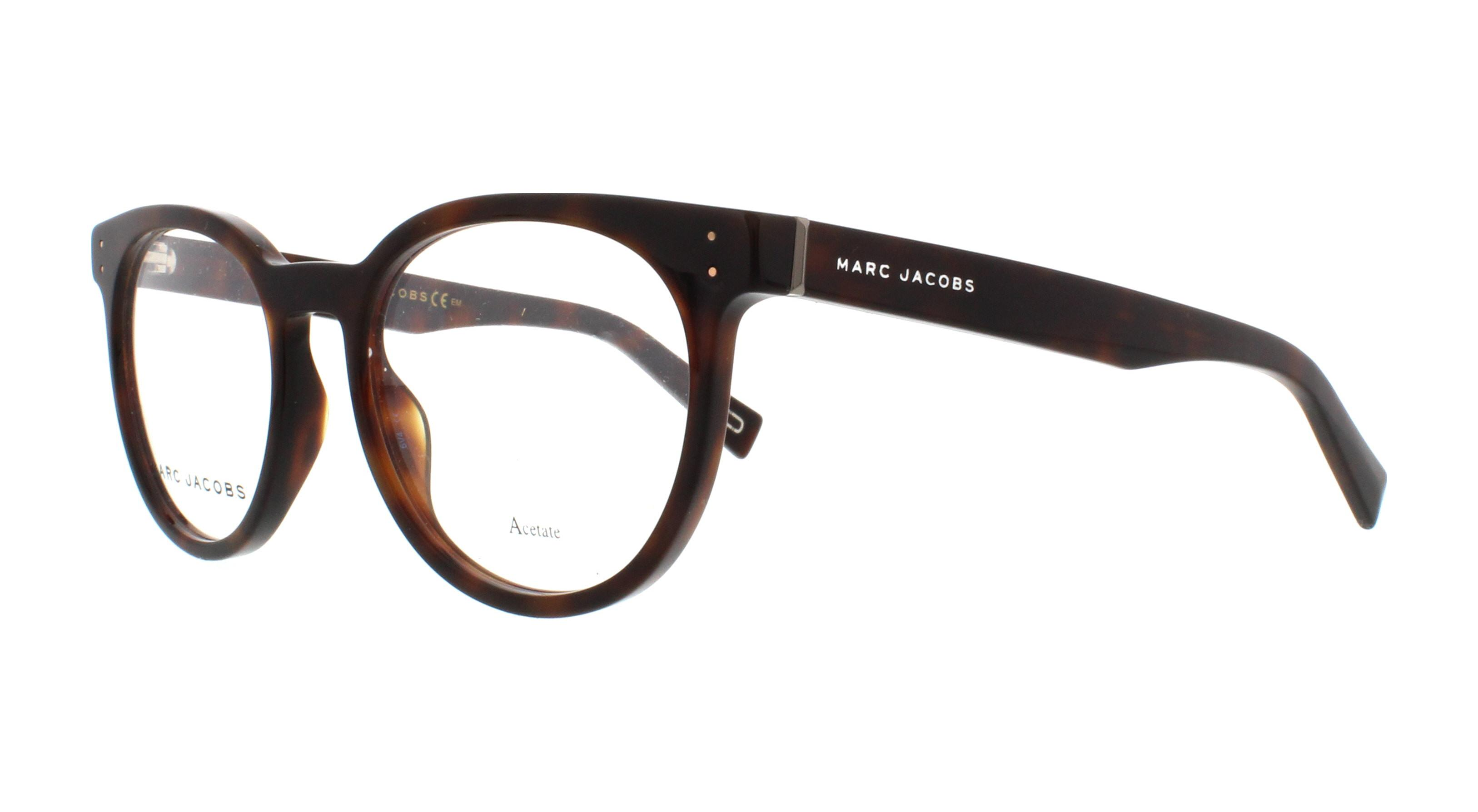 7b140059831 MARC JACOBS Eyeglasses MARC 126 0ZY1 Havana Medium 49MM 762753102898 ...