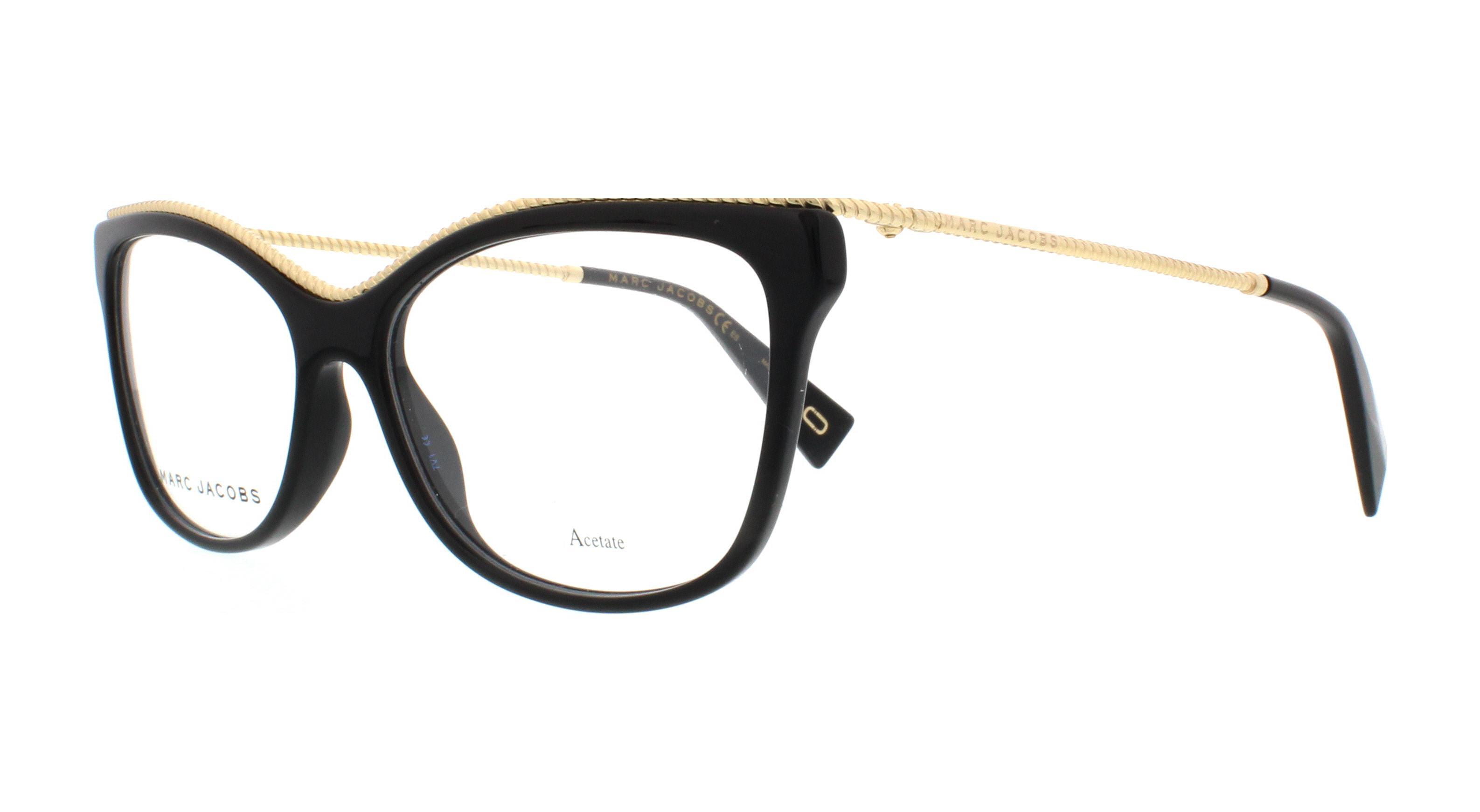 ffd0f92e53e MARC JACOBS Eyeglasses MARC 167 0807 Black 55MM 762753691897