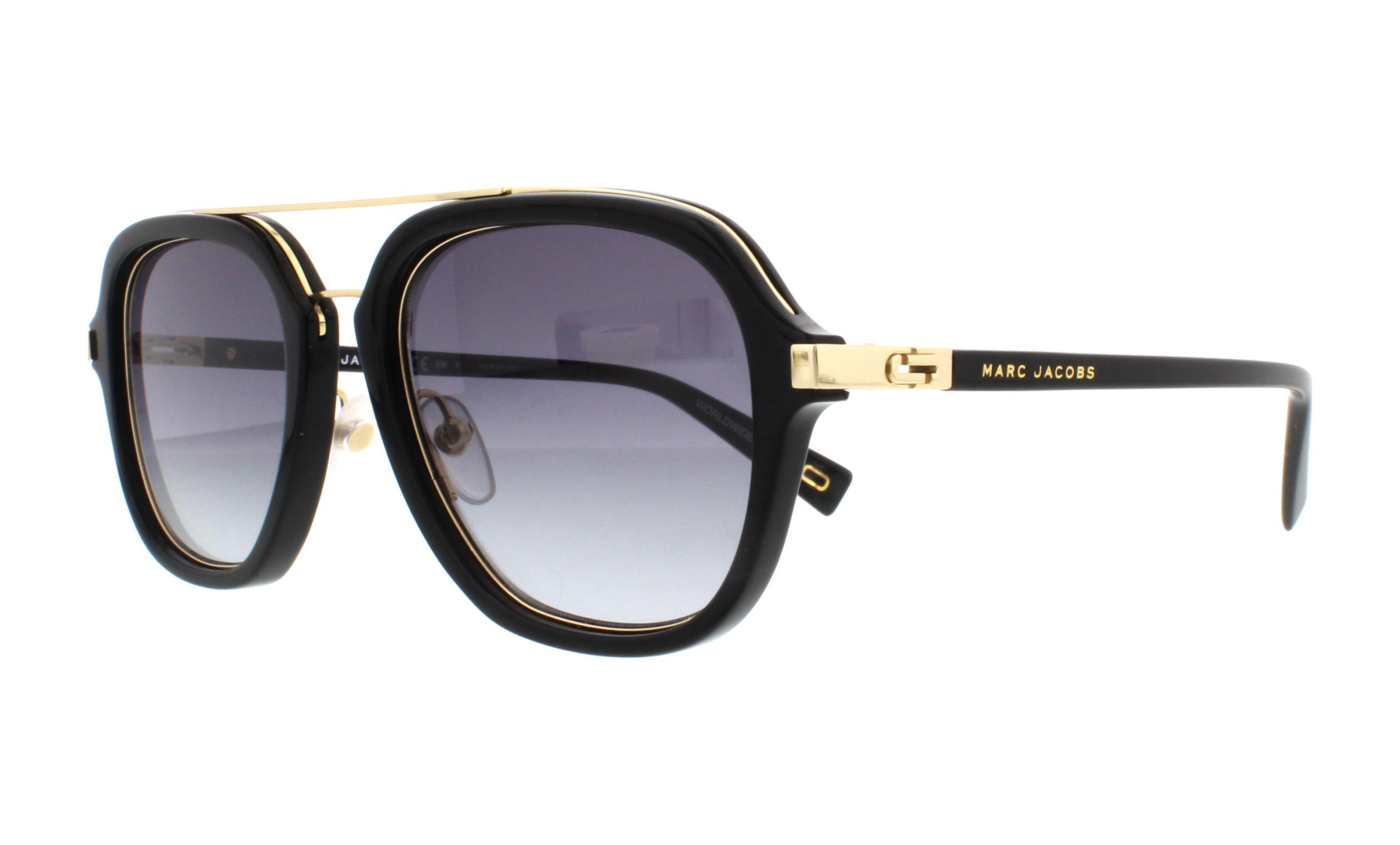 MARC JACOBS Sunglasses MARC 172 S 02M2 Black Gold 54MM 762753684899 ... 9cb28563cd07
