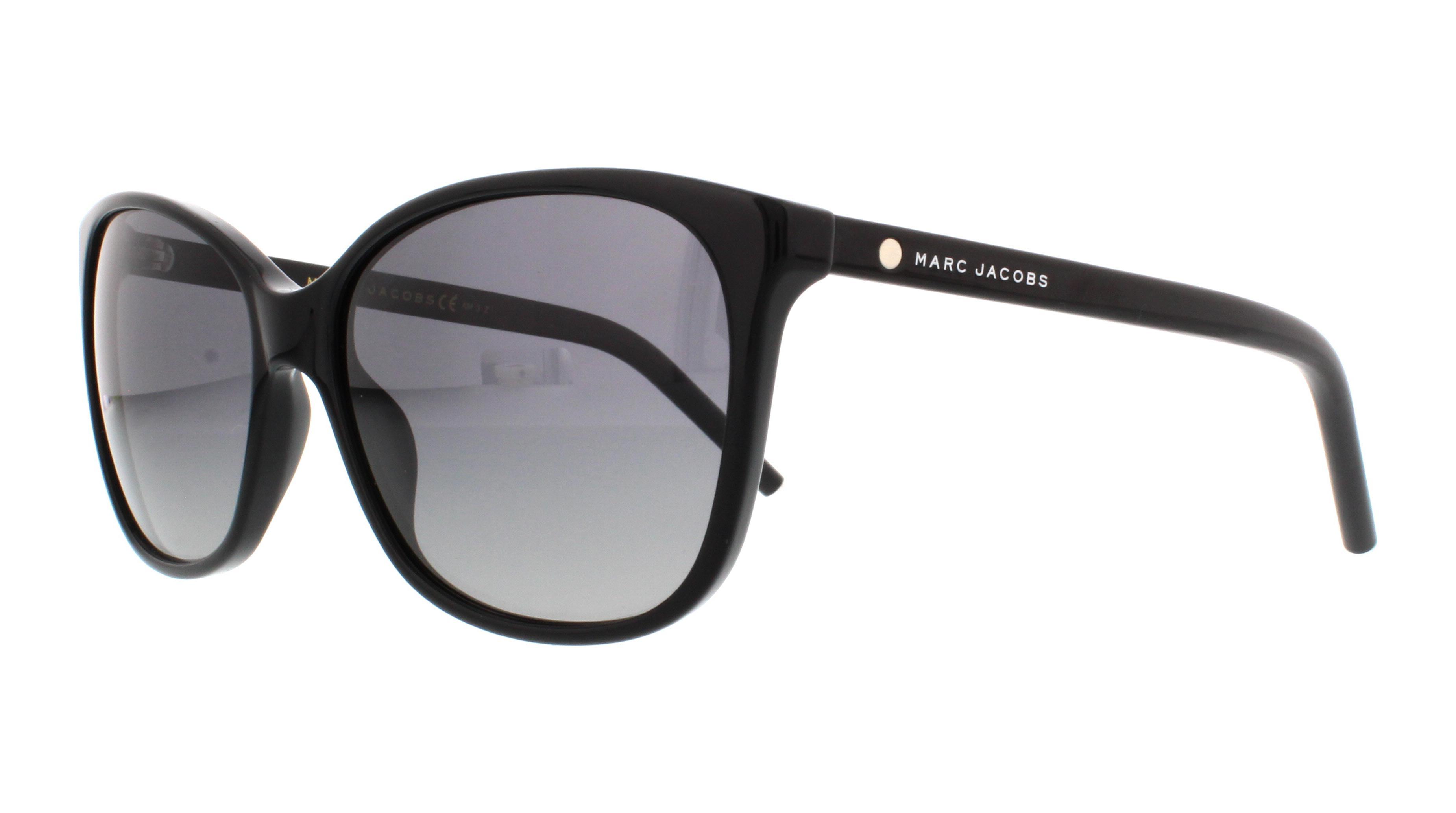 Womens Polarized 78/S WJ (57 mm) Sunglasses, Black, 57 Marc Jacobs