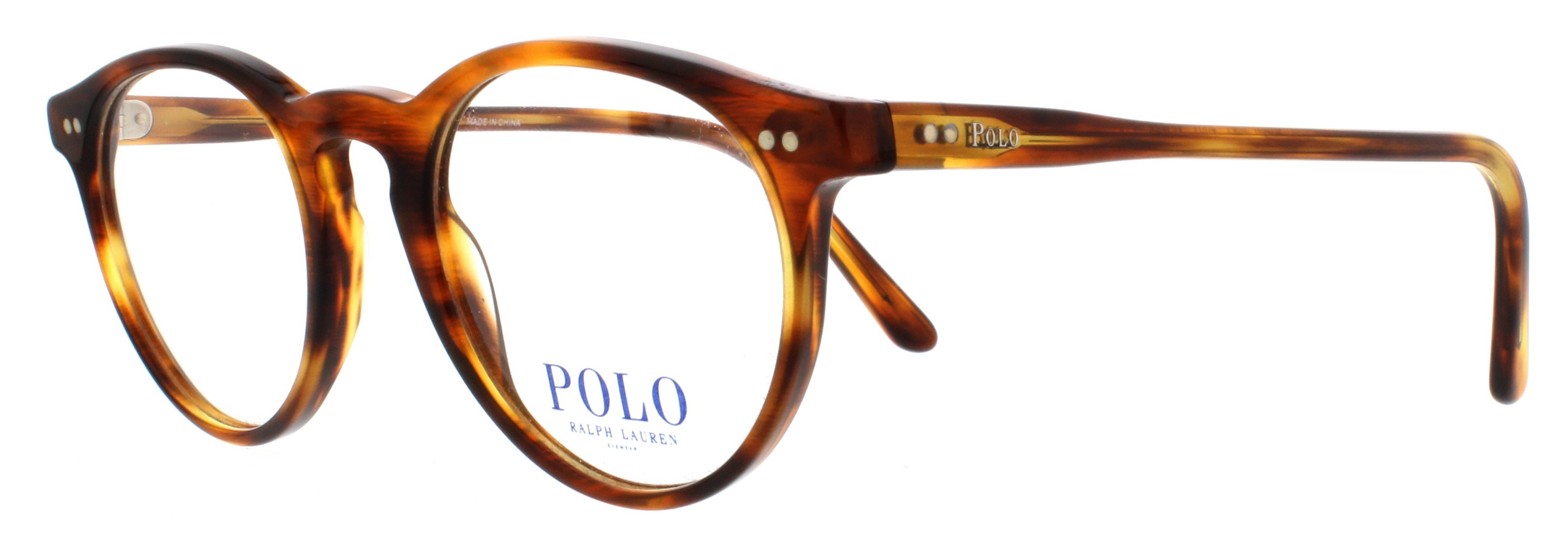 169a6d3aa4 POLO Eyeglasses PH2083 5007 Havana Striped 46MM