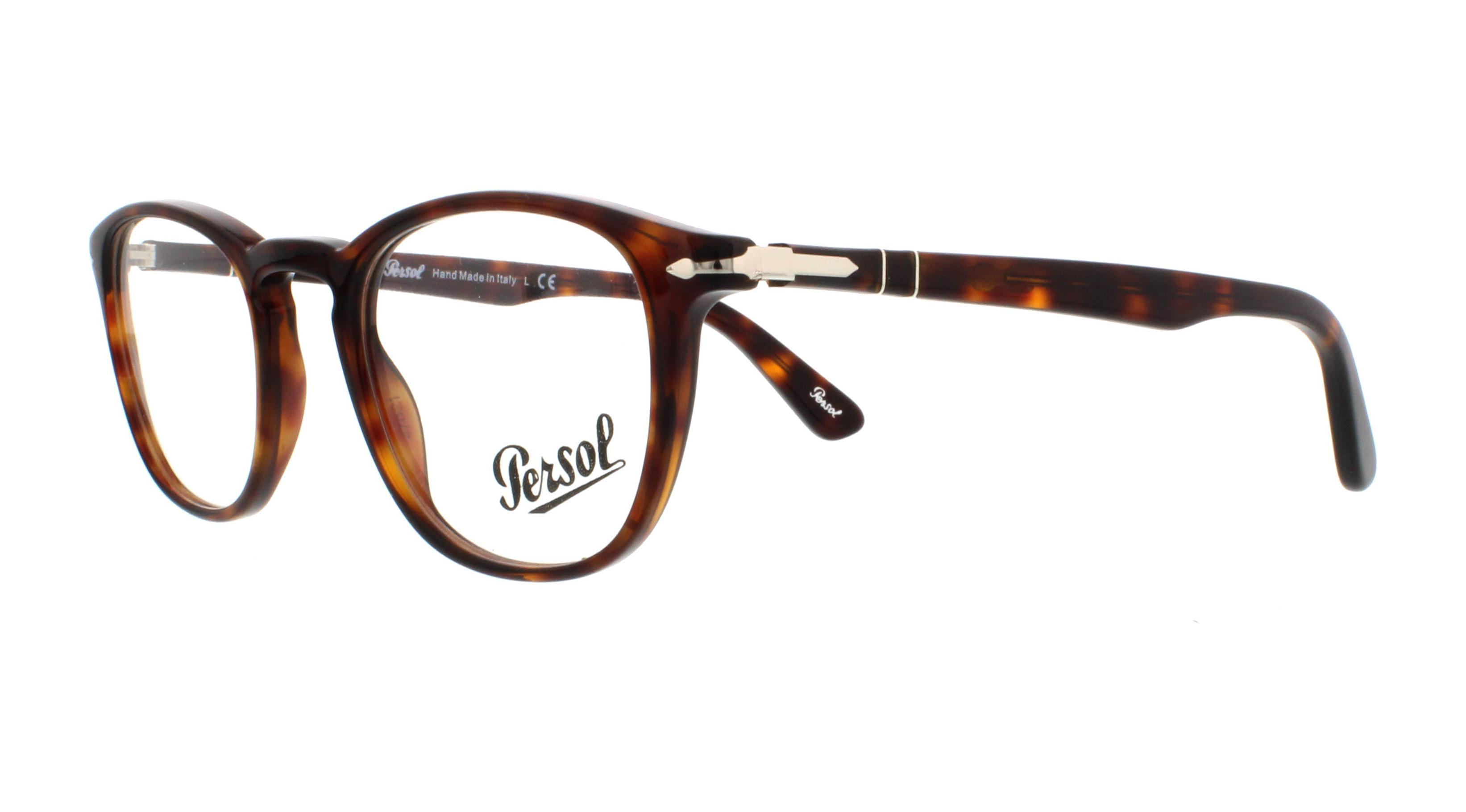 045e4119b0f PERSOL Eyeglasses PO3143V 24 Havana 47MM 8053672593853
