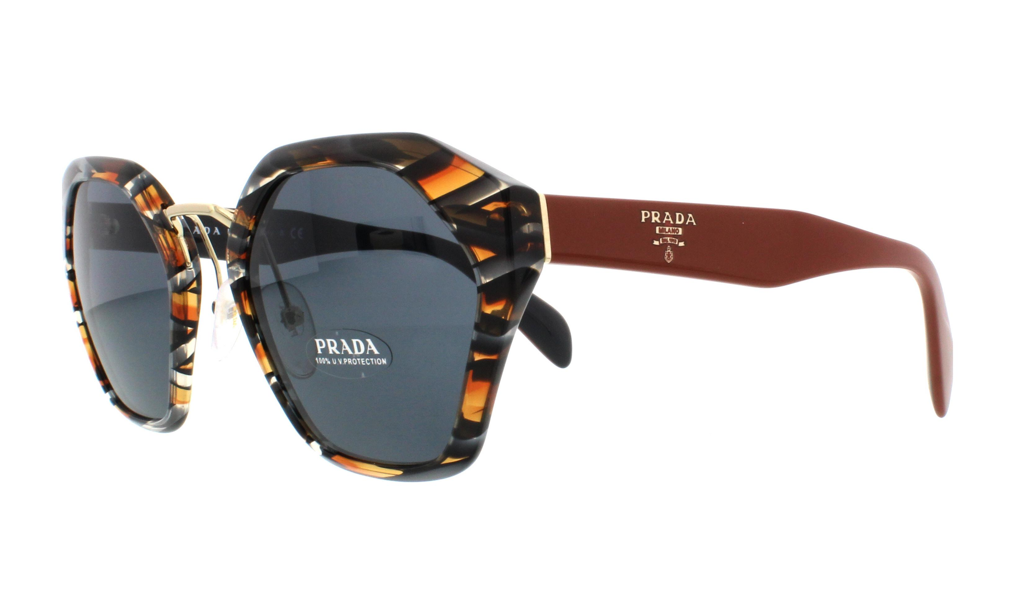 db040fc642d32 PRADA Sunglasses PR04TS VAN9K1 Sheaves Grey Orange 55MM ...