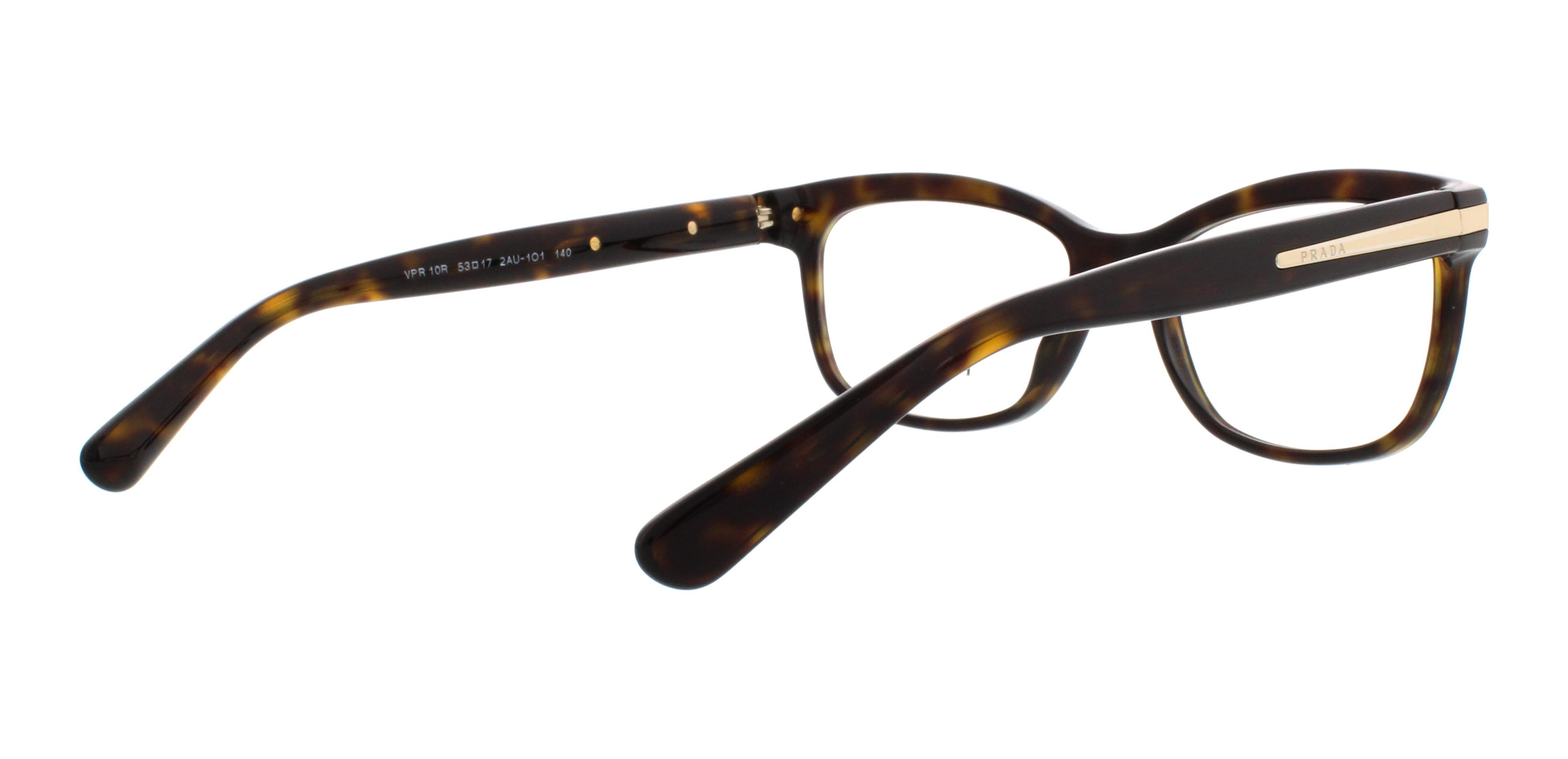 PRADA Eyeglasses PR10RV ARROW 2AU1O1 Havana 53MM | eBay