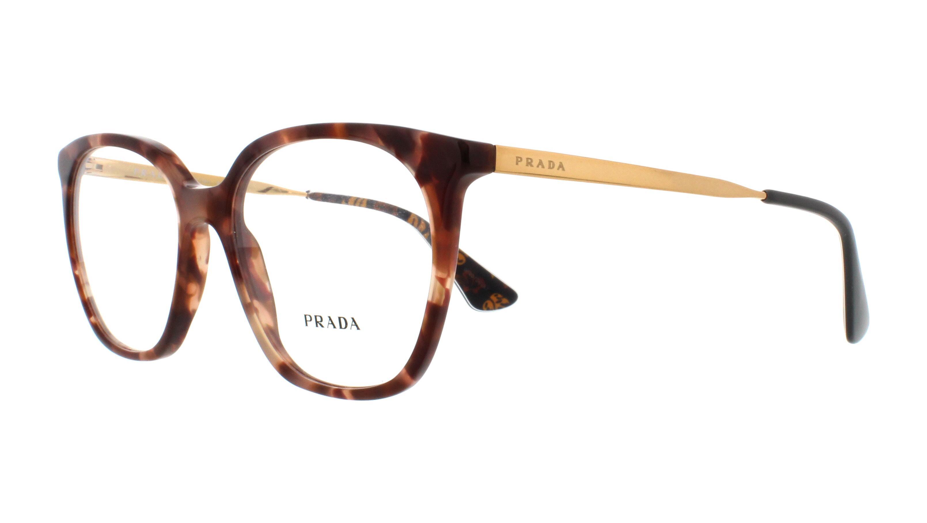 d1a13c893a PRADA Eyeglasses PR11TV UE01O1 Pink Havana 53MM 8053672673883