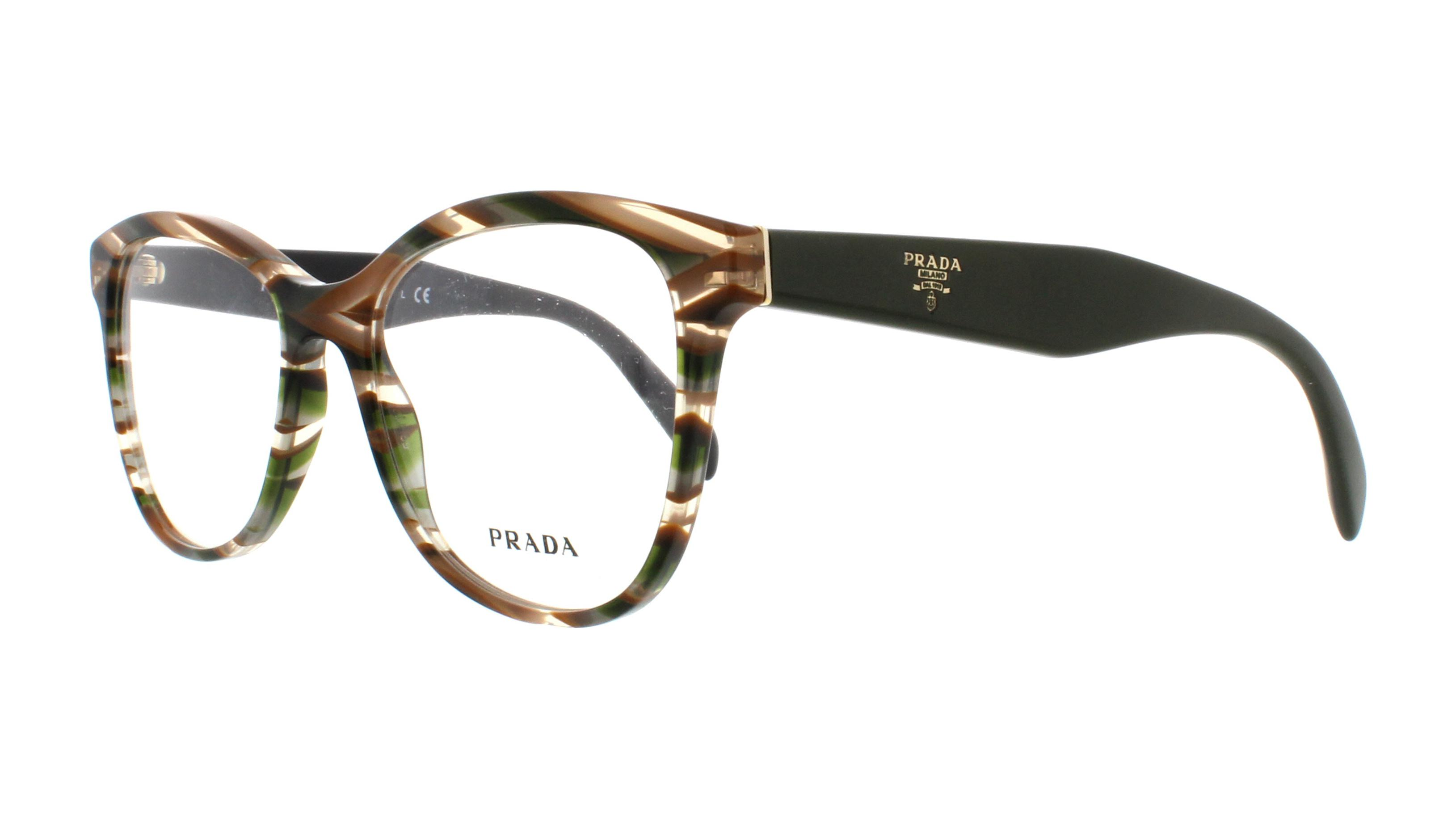 d00076ba909 PRADA Eyeglasses PR12TV VAO1O1 Sheaves Grey Brown 53MM
