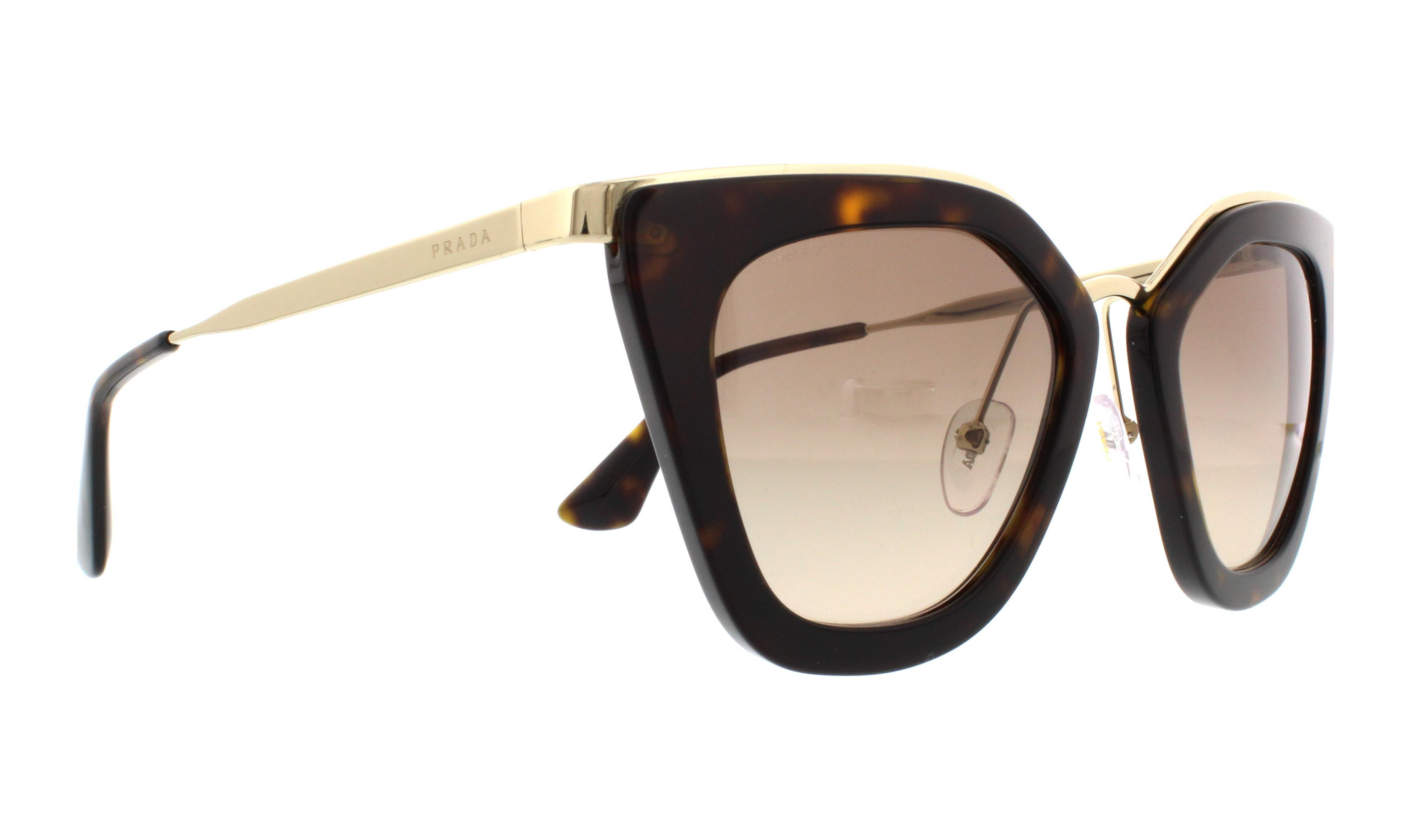 Prada PR53SS Sonnenbrille Tortoise und Gold 2AU3D0 52mm BZOaC