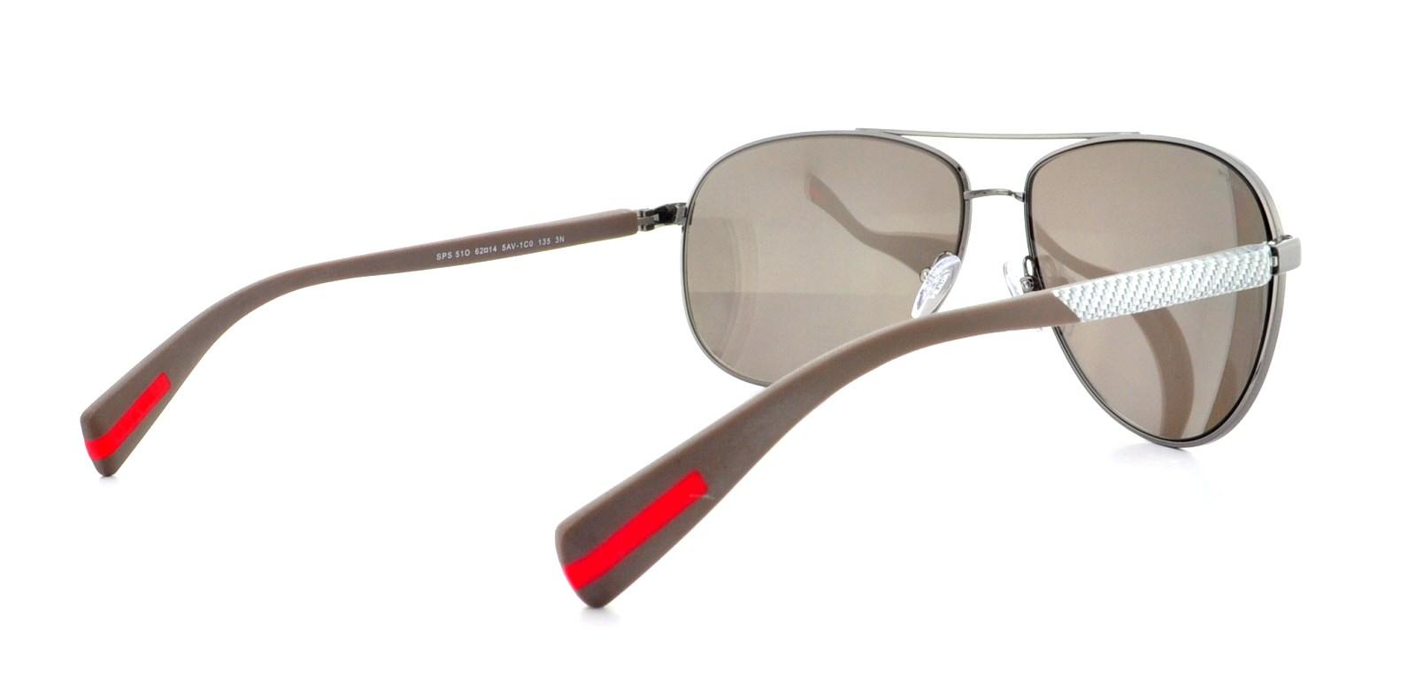 baf3c9a2ad8 PRADA SPORT Sunglasses PS51OS NETEX COLLECTION 5AV1C0 Gunmetal 62MM ...