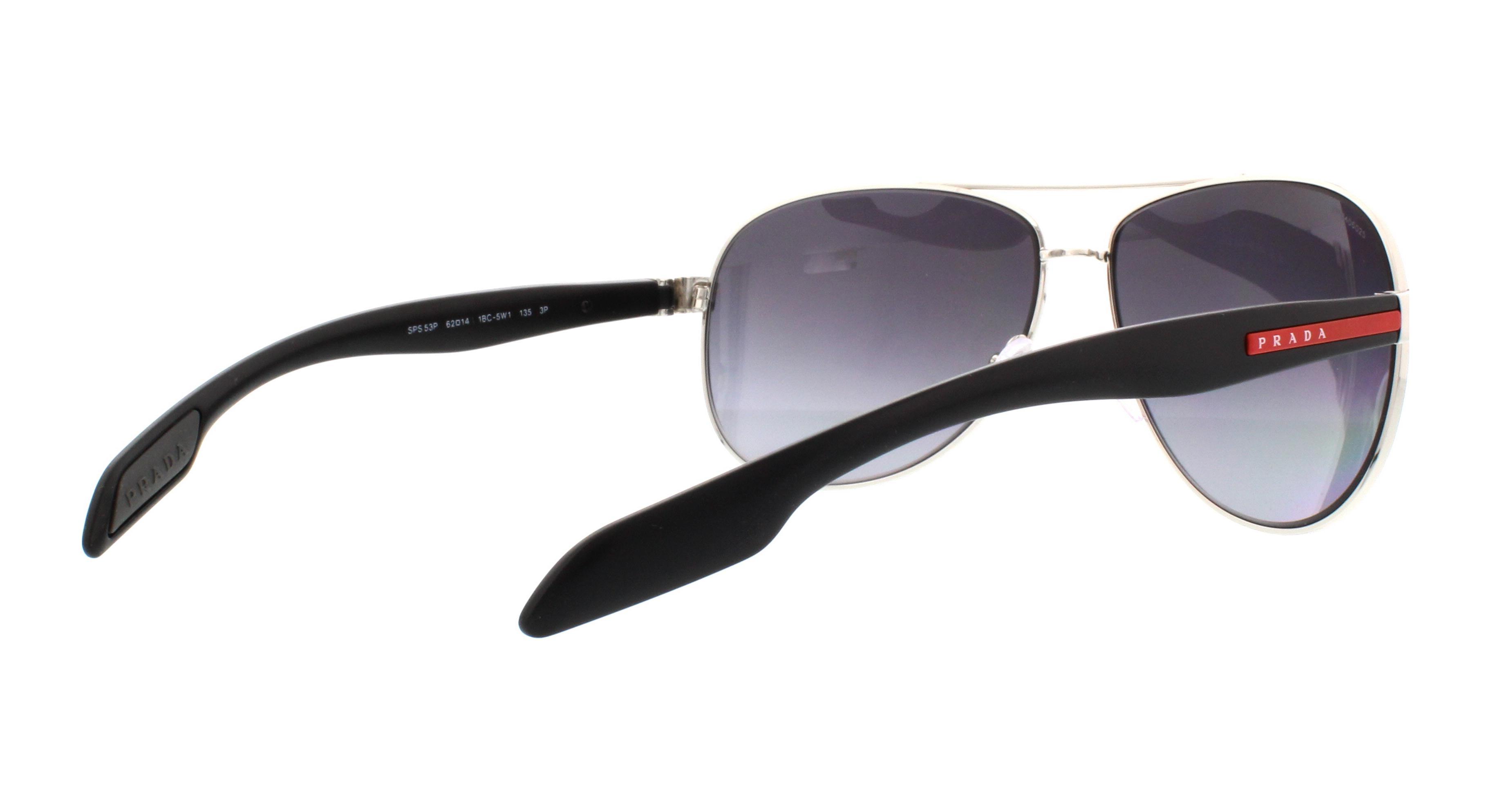 Prada Sport Benbow Sonnenbrille Steel 1BC5W1 Polarisiert 62mm Ohdsi0x