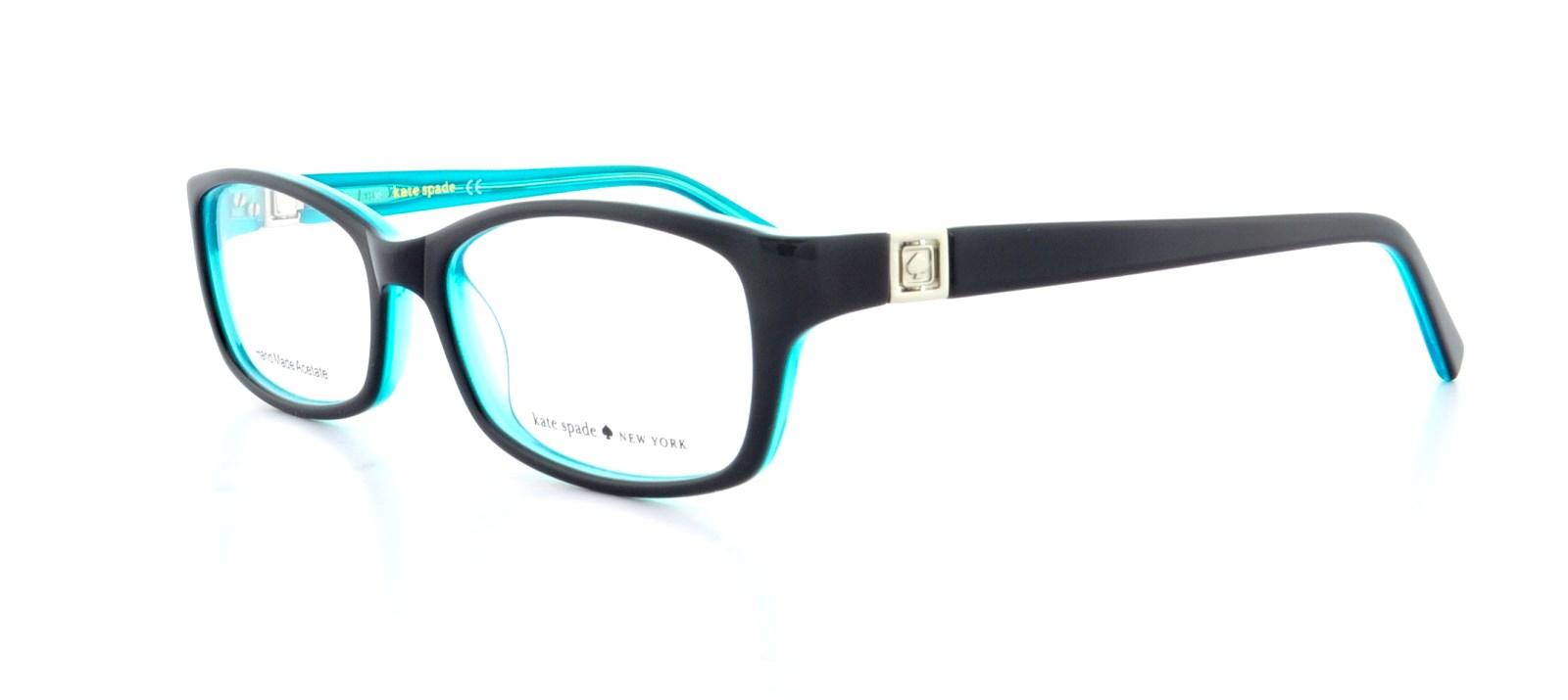 c54fe0ce39be KATE SPADE Eyeglasses REGINE 0DH4 Black Aqua 50MM | eBay