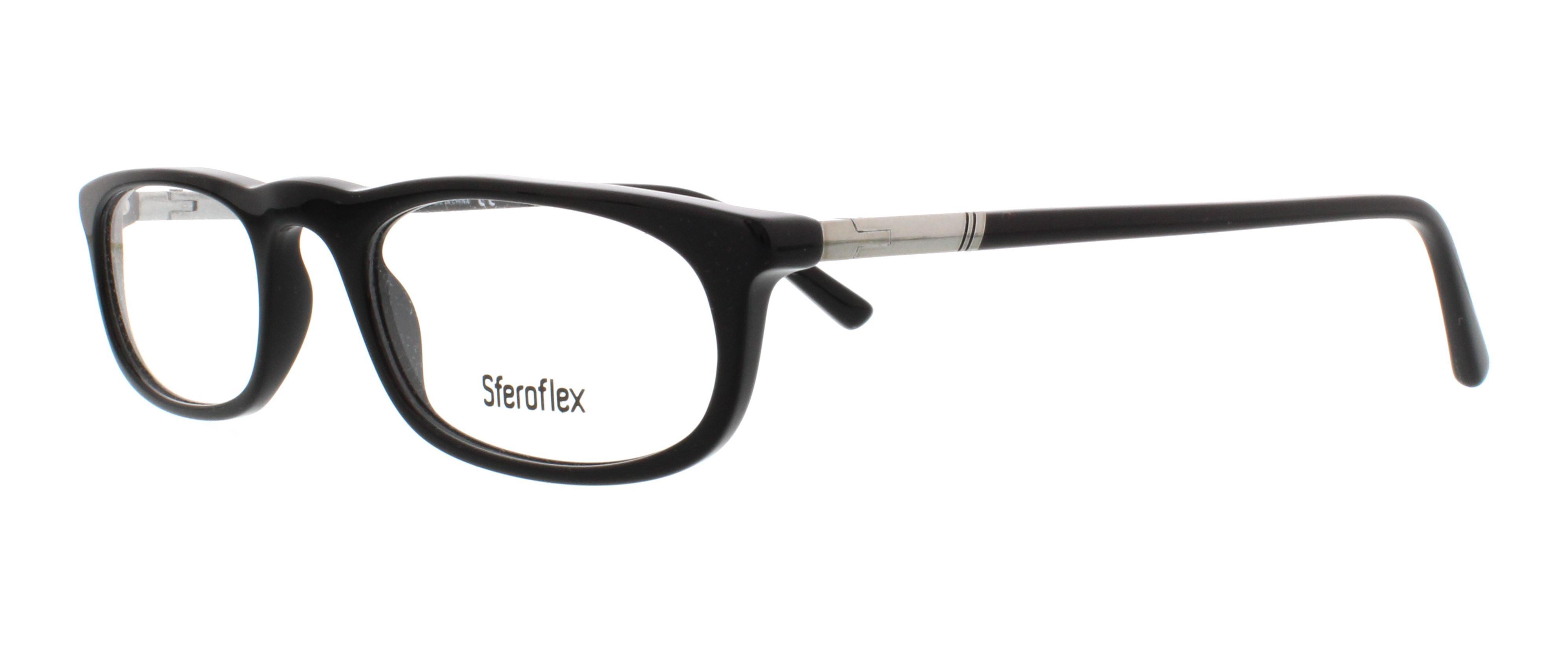 SFEROFLEX Eyeglasses SF1137 C568 Black 52MM 8053672042535 | eBay