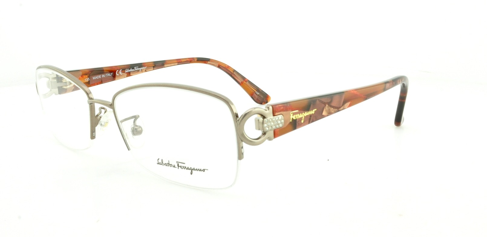 SALVATORE FERRAGAMO Eyeglasses SF2104R 229 Brown Glow 54MM ...