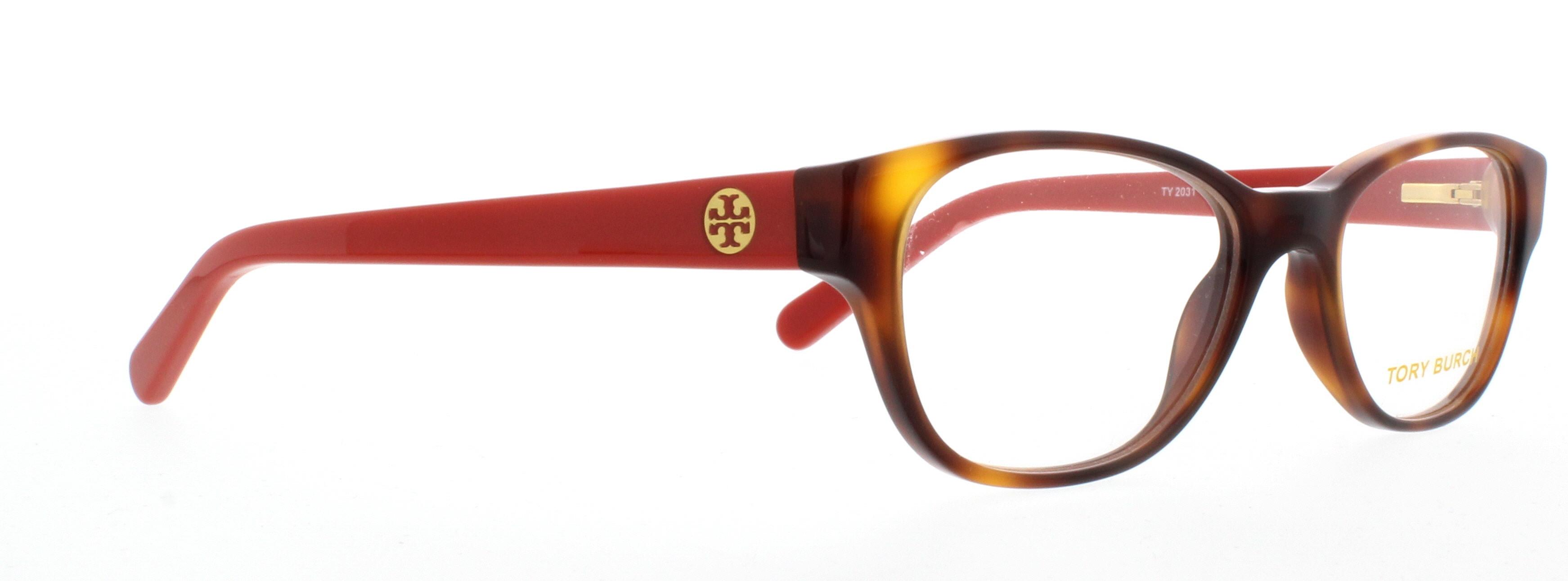TORY BURCH Eyeglasses TY 2031 1162 Amber Orange 49MM qGvO5DMC