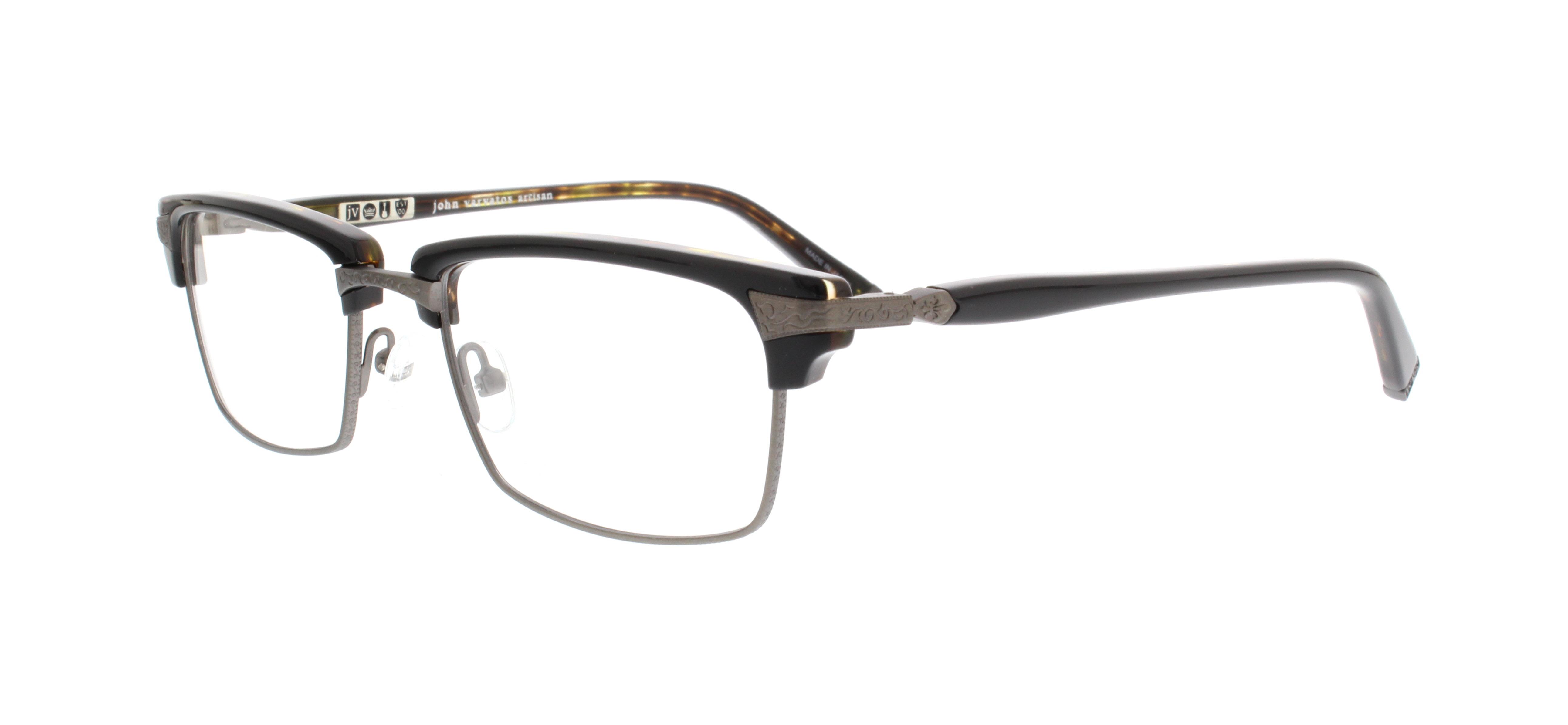 a41b48ffb3 JOHN VARVATOS Eyeglasses V145 Black Tortoise 53MM 751286247053