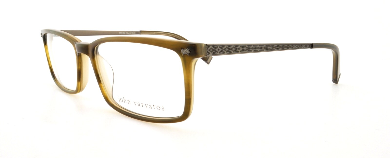 JOHN VARVATOS Eyeglasses V336 Olive 55MM 751286140996   eBay