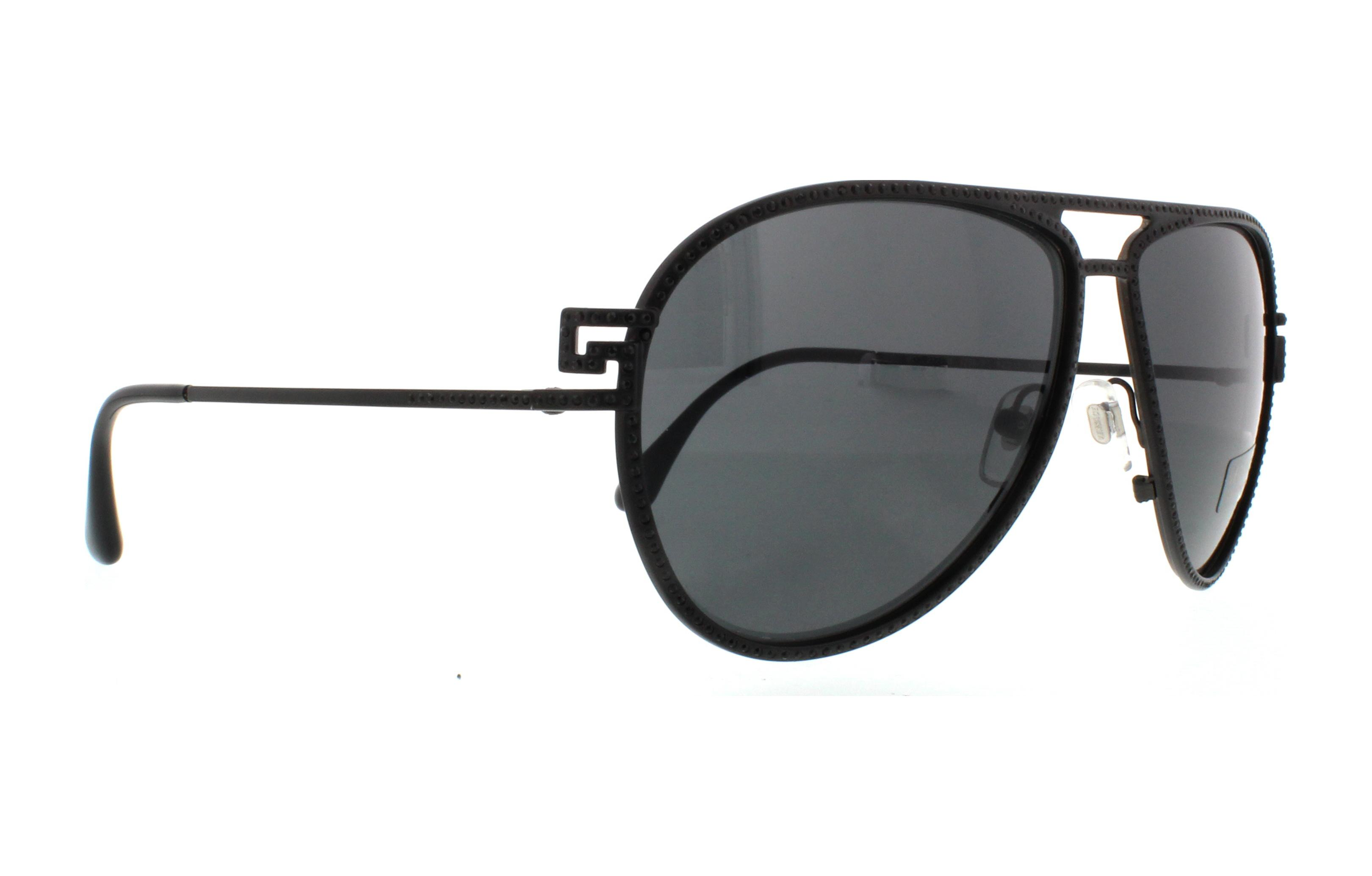 7b2f549e3a NWT Versace Sunglasses VE 2171B 1256  87 Matte Black    Grey 62 mm 125687  NIB Christmas gift