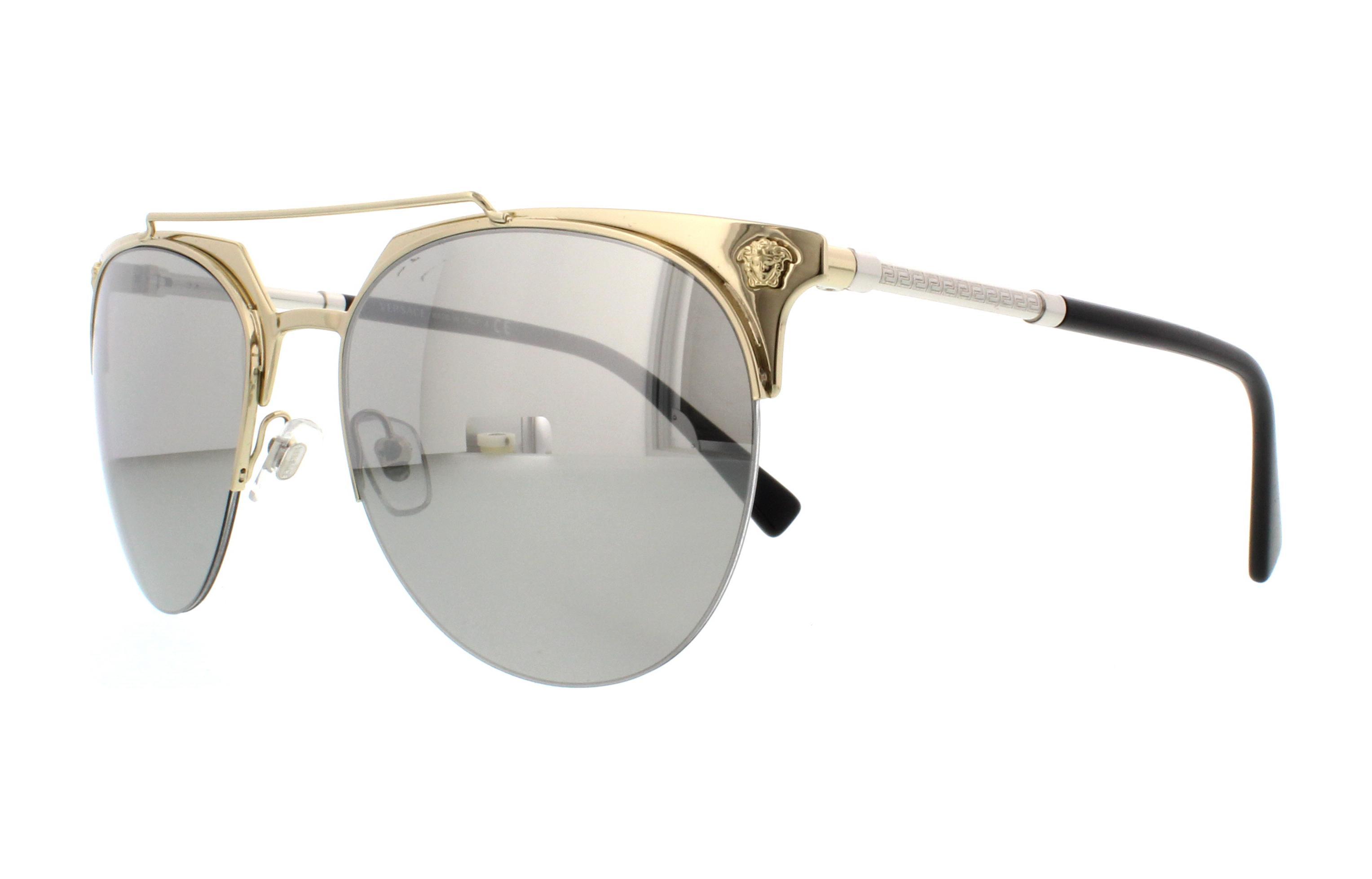 7368a56d4ea VERSACE Sunglasses VE2181 12526G Pale Gold 57MM 8053672755404