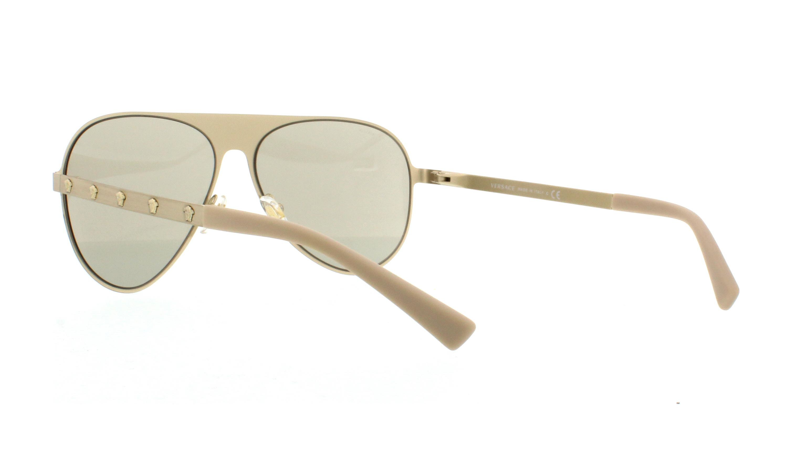 0077659e1139 NWT Versace Sunglasses VE 2189 1339  3 Brushed Pale Gold    Light Brown