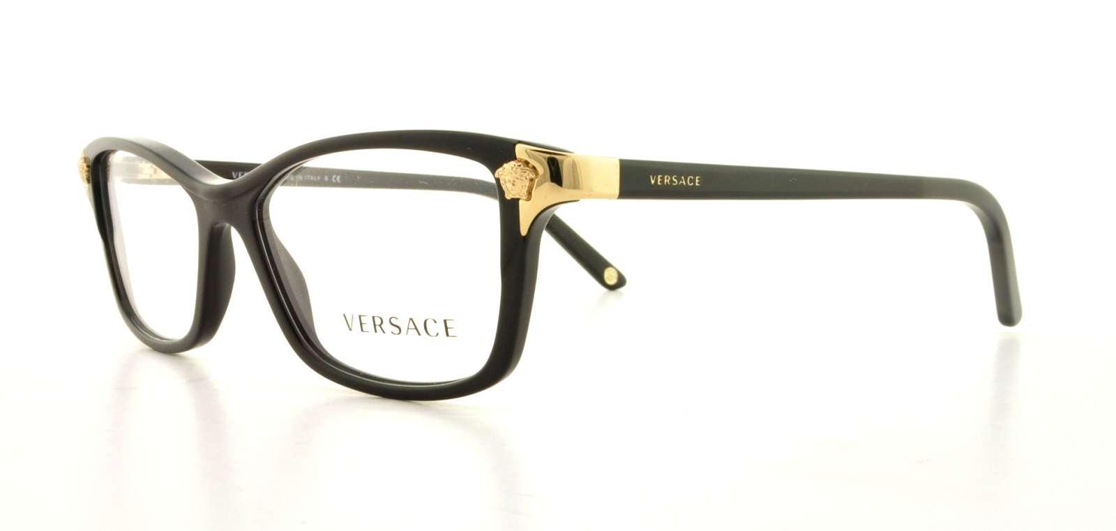 8d213b32b5c VERSACE Eyeglasses VE3156 GB1 Black 53MM 725125741569