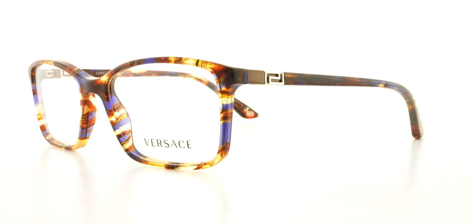 0af9886641 VERSACE Eyeglasses VE3163 992 Striped Brown 52MM 725125747271