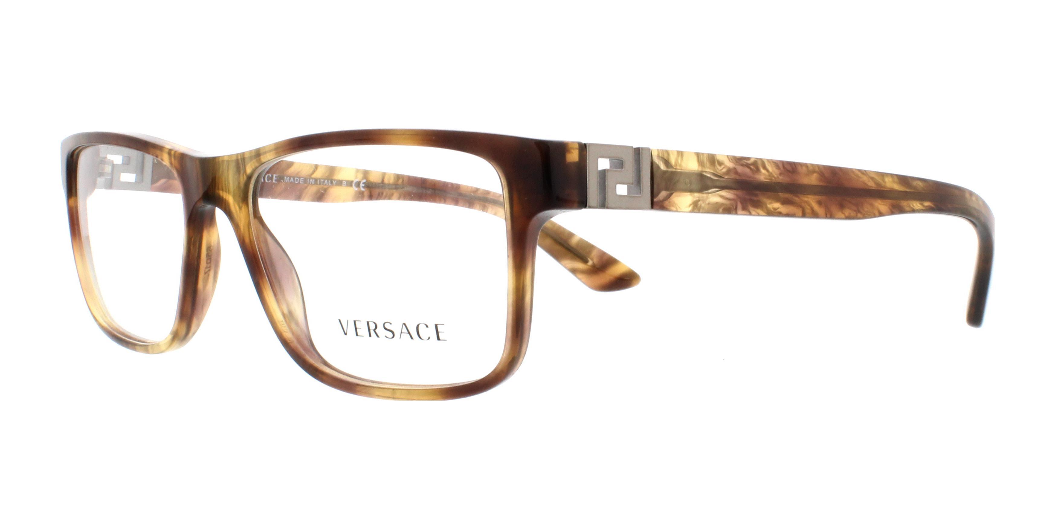 c704679d7c0 VERSACE Eyeglasses VE3211 5143 Striped Havana 55MM 8053672400250